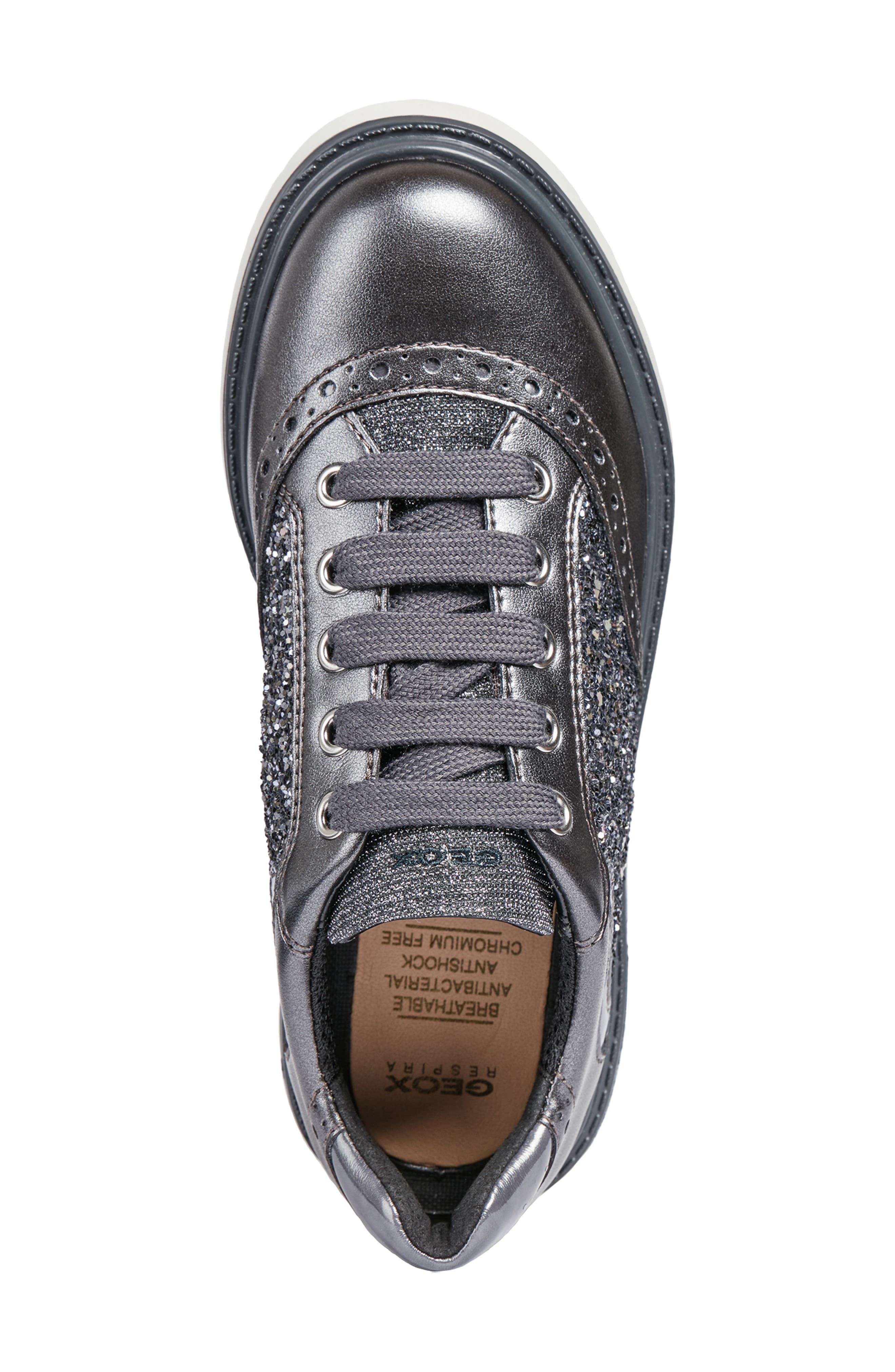 Thymar Sparkle Sneaker,                             Alternate thumbnail 5, color,                             DARK SILVER