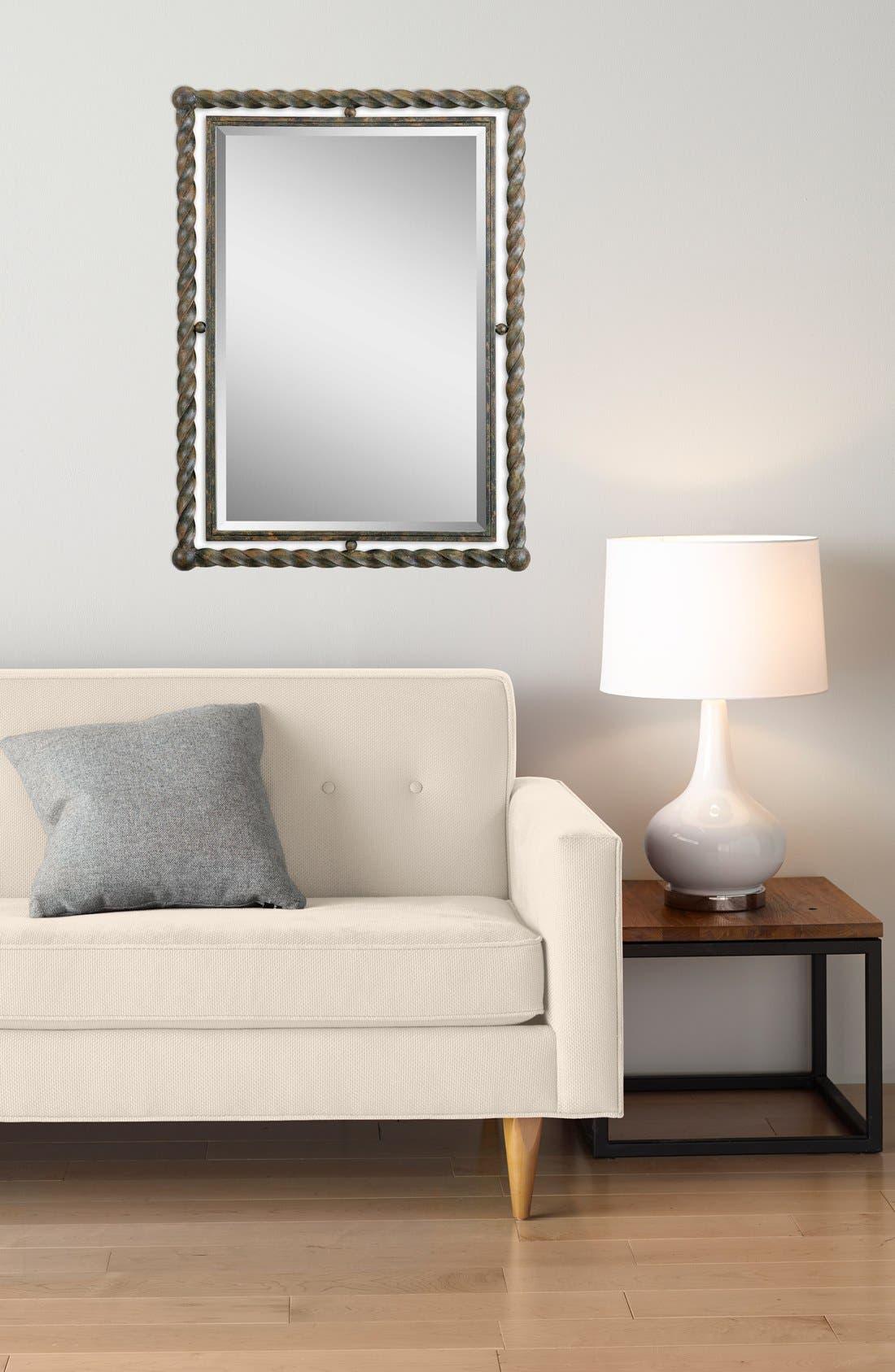 'Garrick' Wrought Iron Mirror,                             Alternate thumbnail 4, color,                             200
