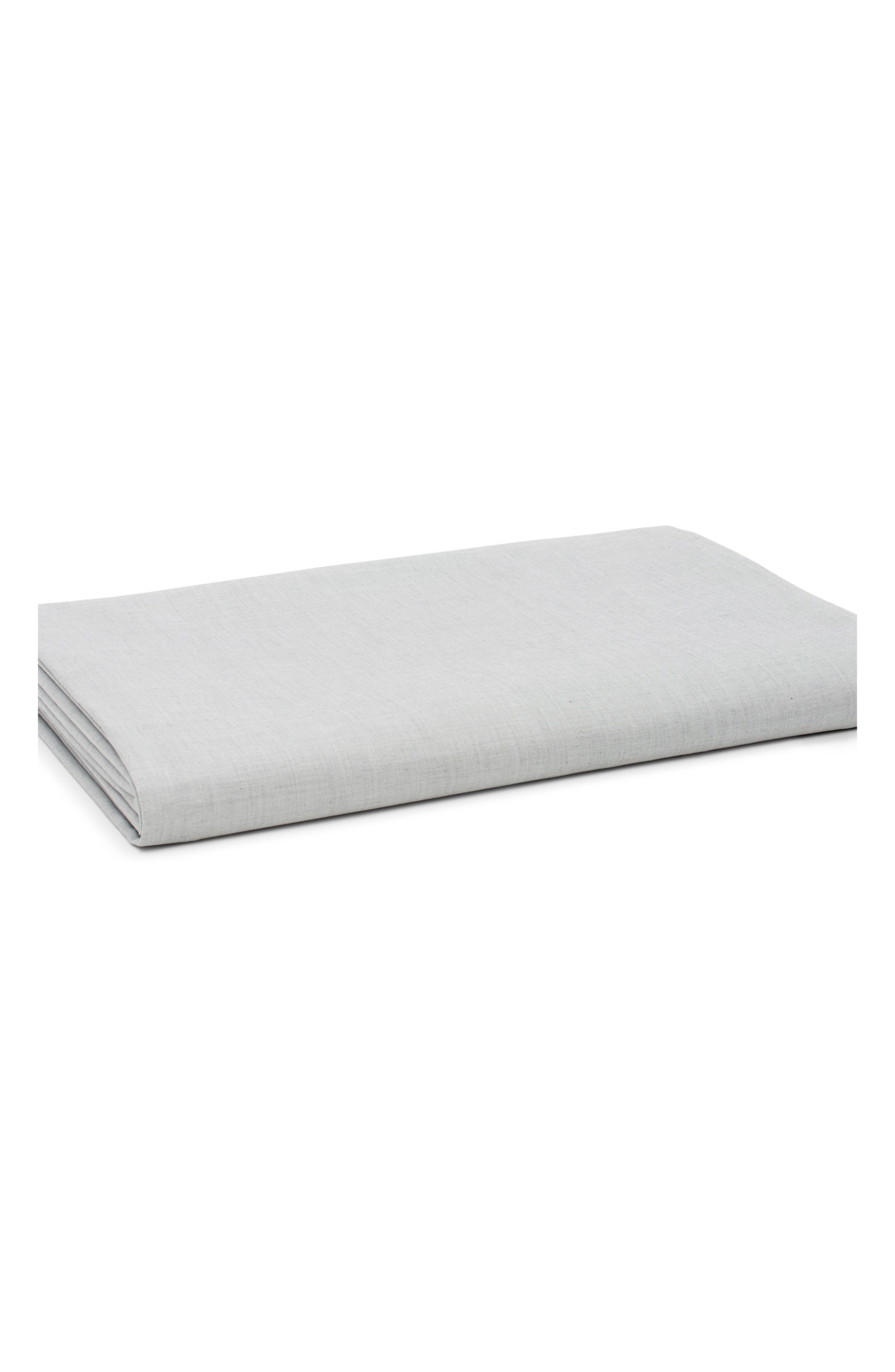 Fine Line 360 Thread Count Fitted Sheet,                             Main thumbnail 1, color,                             CHARCOAL