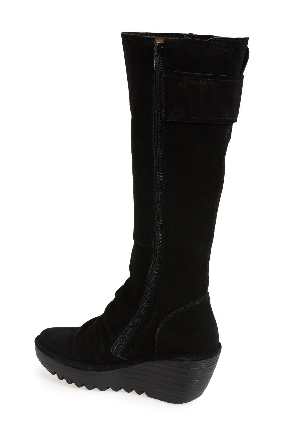 'Yulo' Knee High Wedge Platform Boot,                             Alternate thumbnail 2, color,                             003
