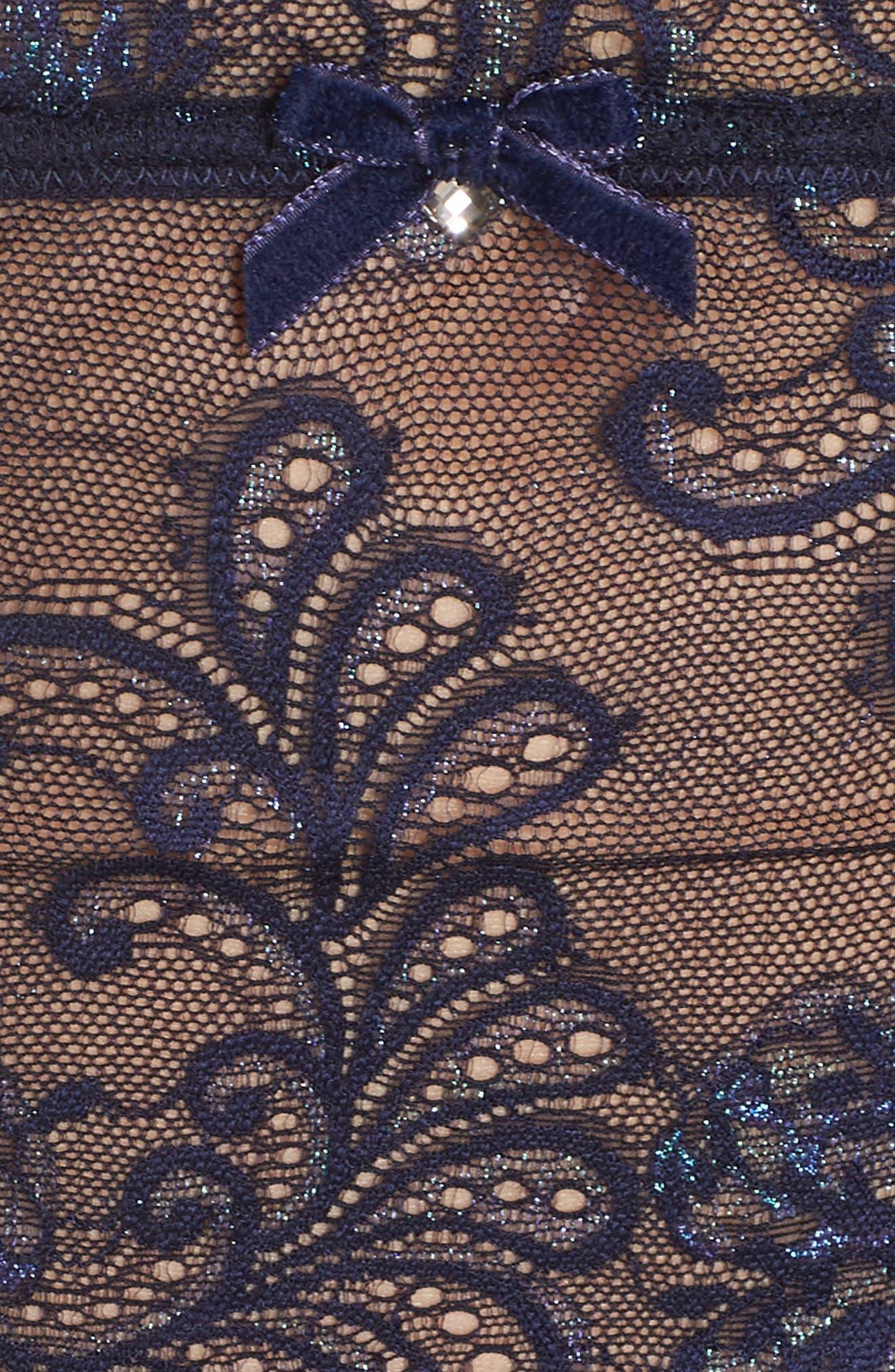 Le Mysère 'Sophia' Lace Garter Belt,                             Alternate thumbnail 5, color,                             477