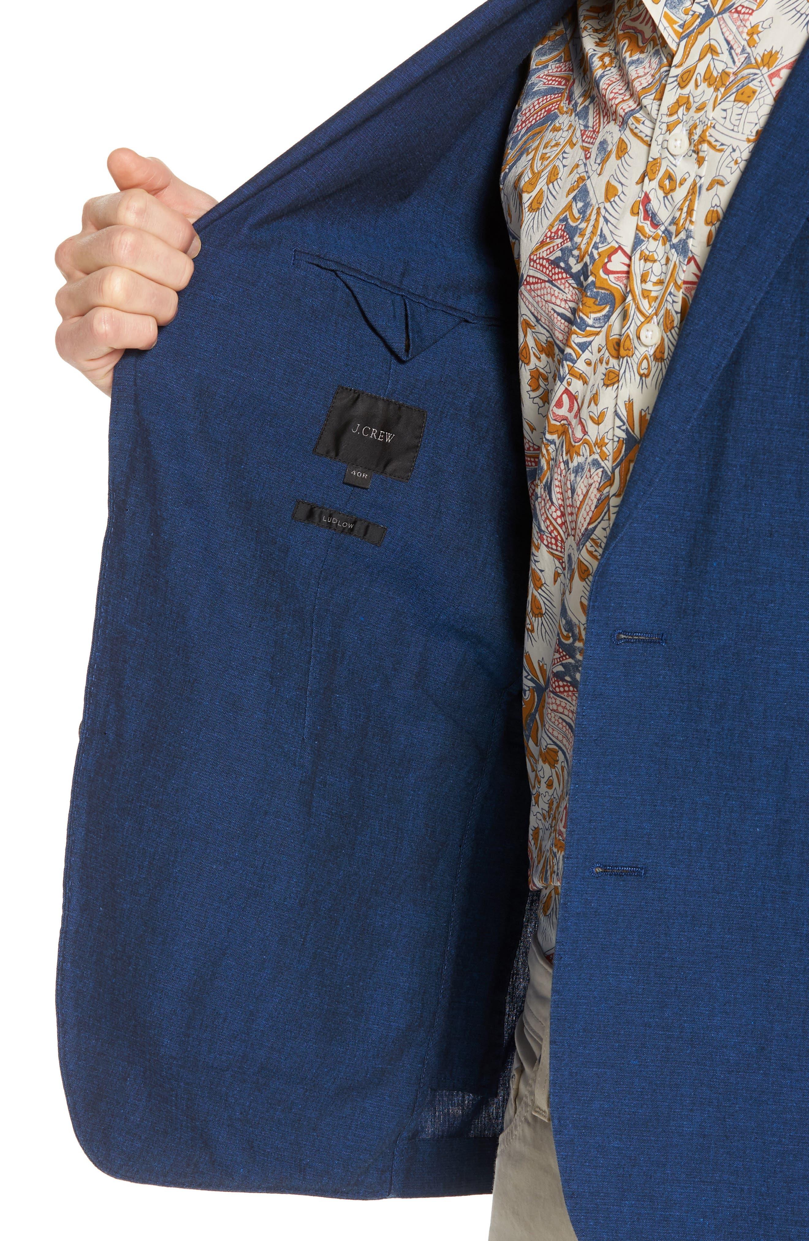 Ludlow Cotton & Linen Blazer,                             Alternate thumbnail 4, color,