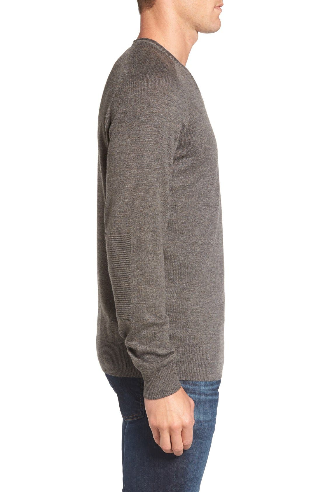 'Burwood Bay' Wool V-Neck Sweater,                             Alternate thumbnail 3, color,                             259