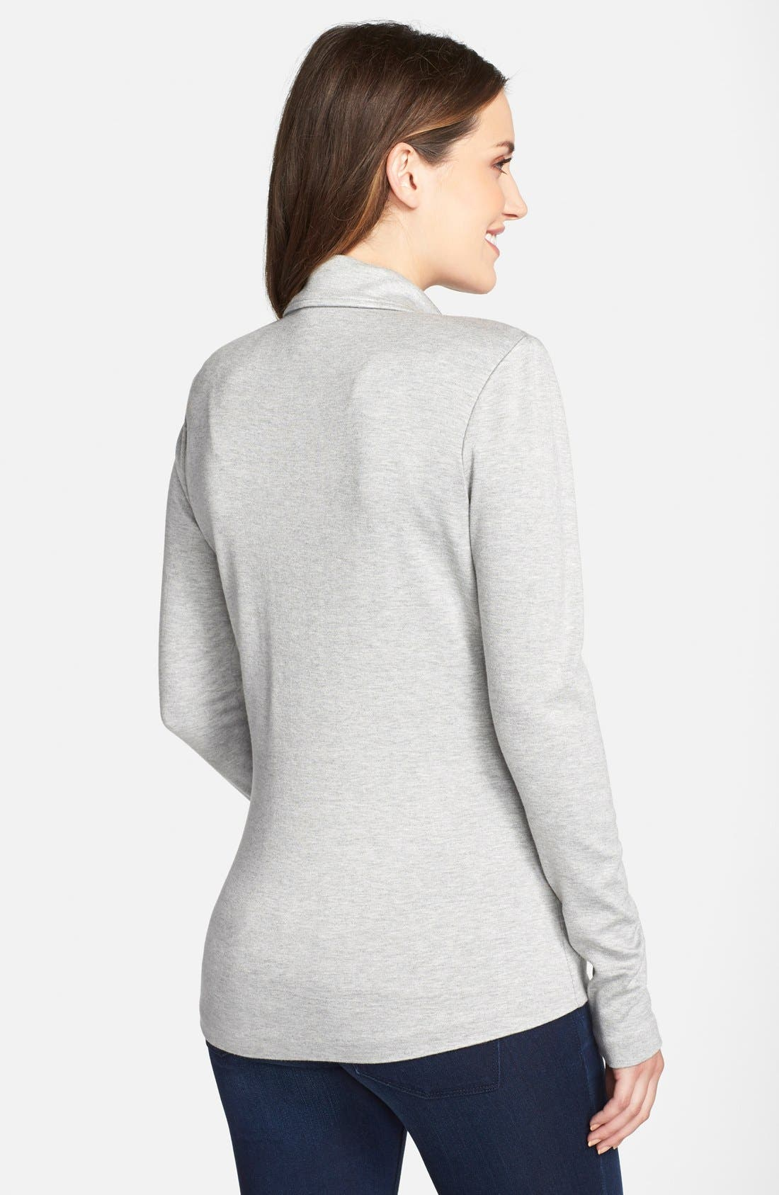 Essential Maternity Blazer,                             Alternate thumbnail 4, color,                             HEATHER GREY