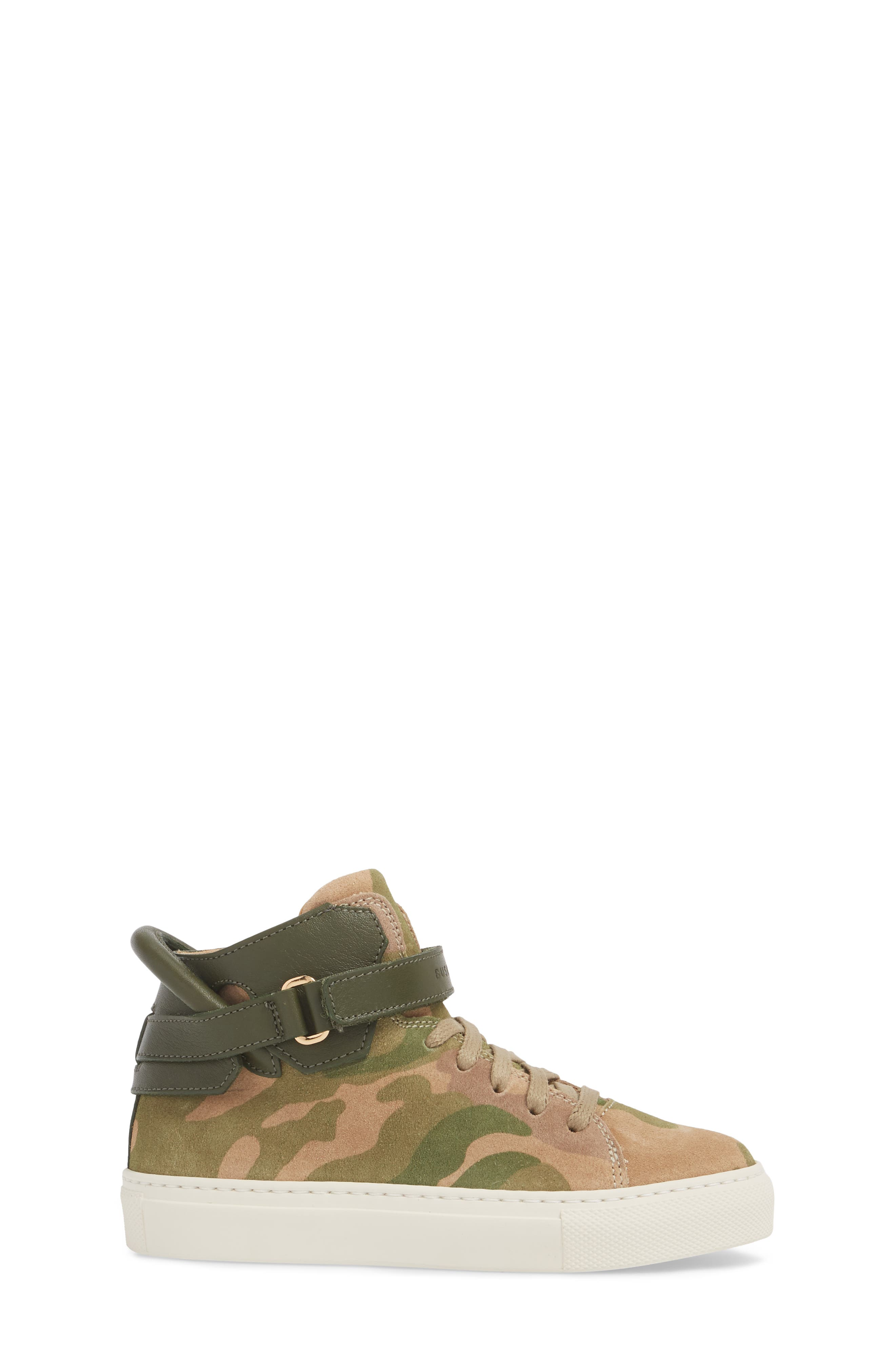 Suede High Top Sneaker,                             Alternate thumbnail 3, color,                             CAMO SUEDE