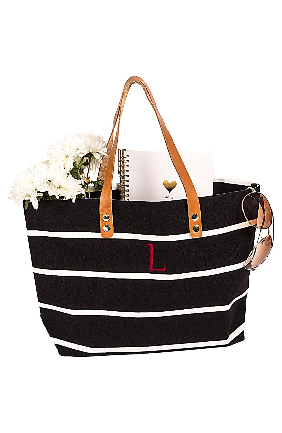 Monogram Stripe Tote,                             Alternate thumbnail 136, color,