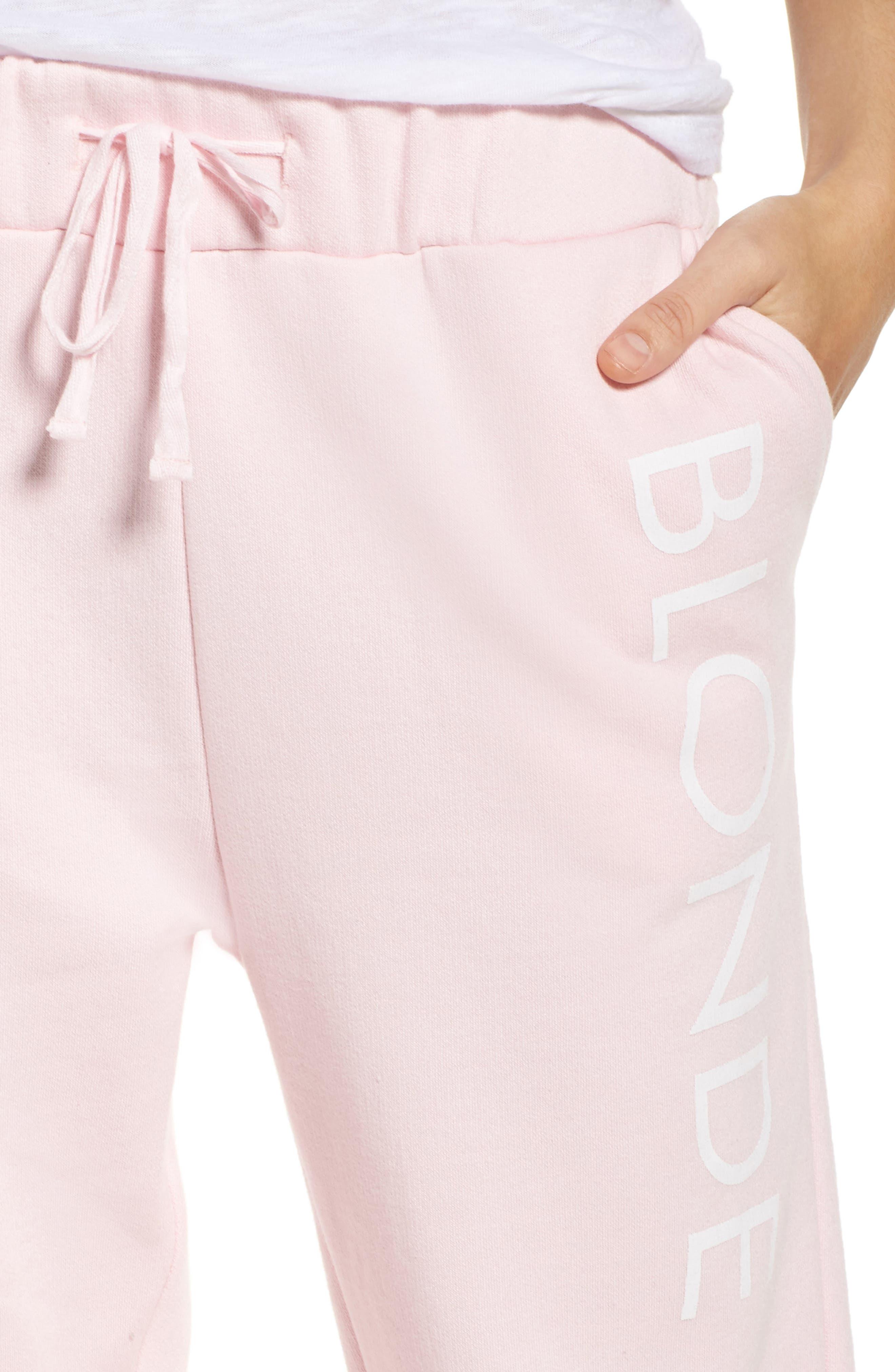 Blonde Jogger Pants,                             Alternate thumbnail 4, color,