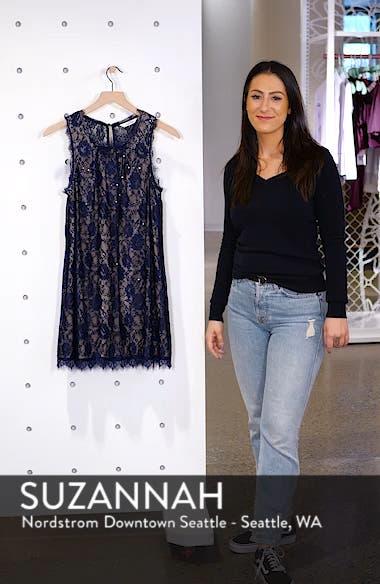 Sequin Lace Shift Dress, sales video thumbnail