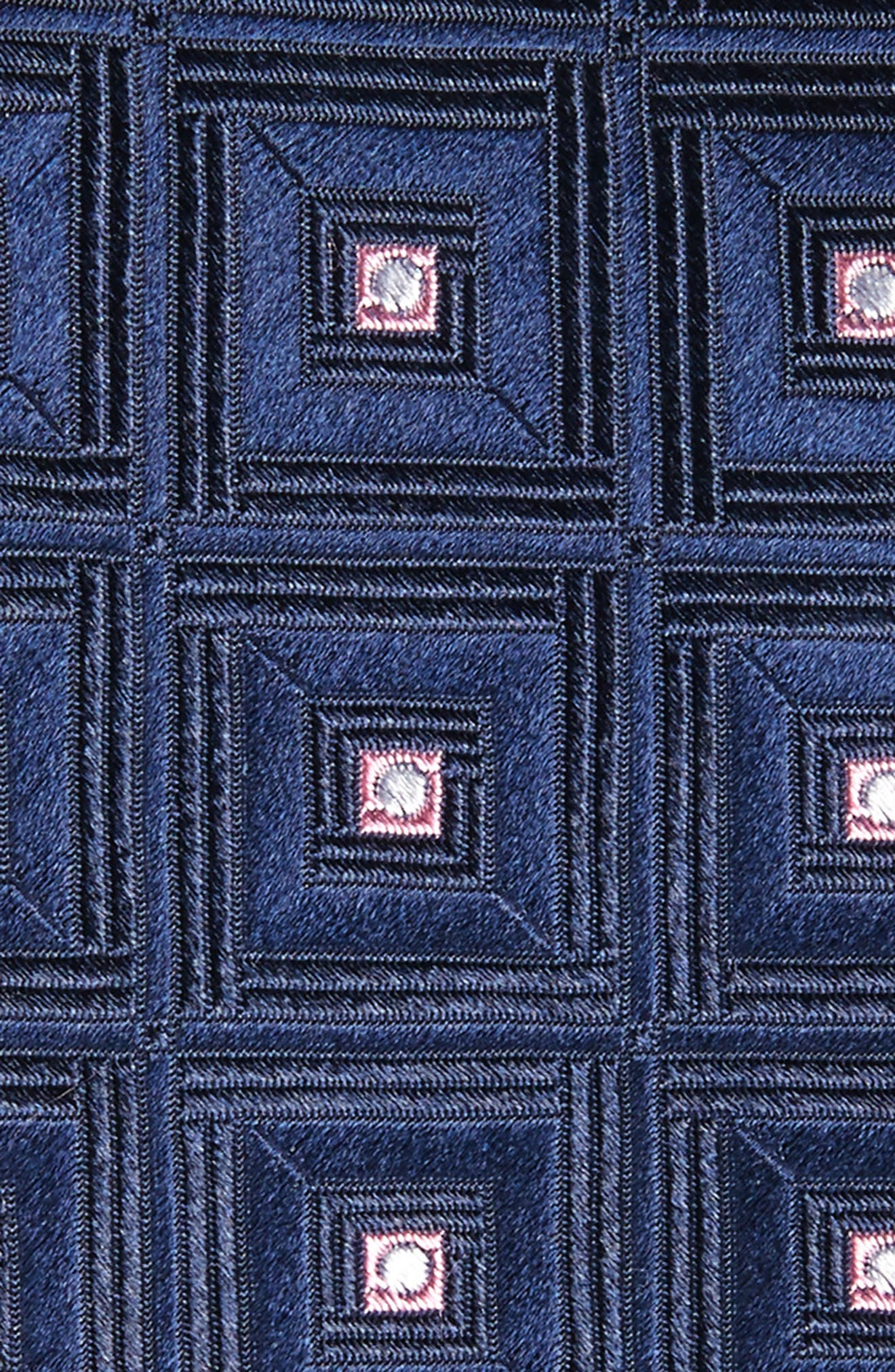 Frame Diamonds Silk Tie,                             Alternate thumbnail 4, color,