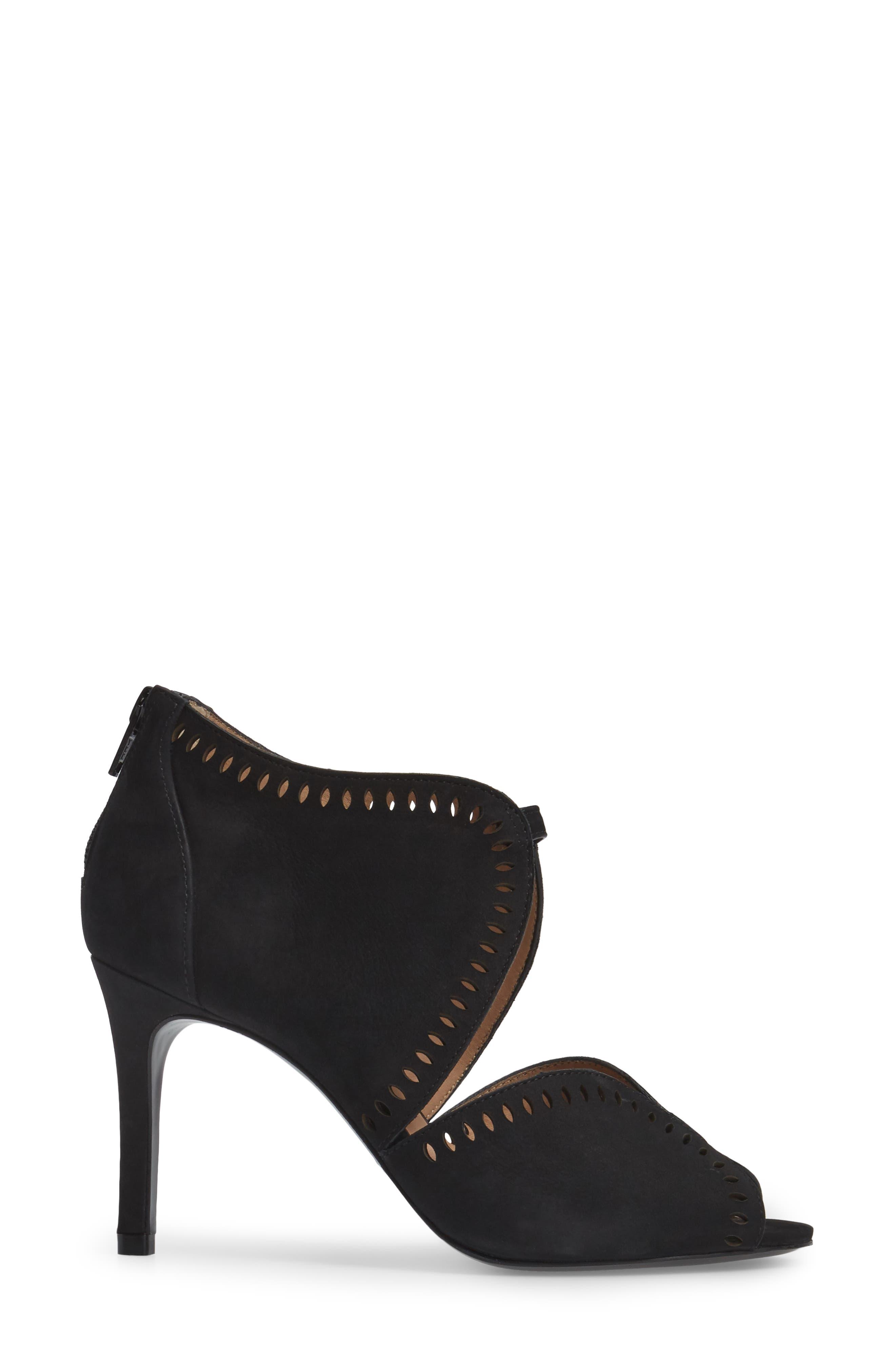 Mallia Perforated Sandal,                             Alternate thumbnail 3, color,                             001