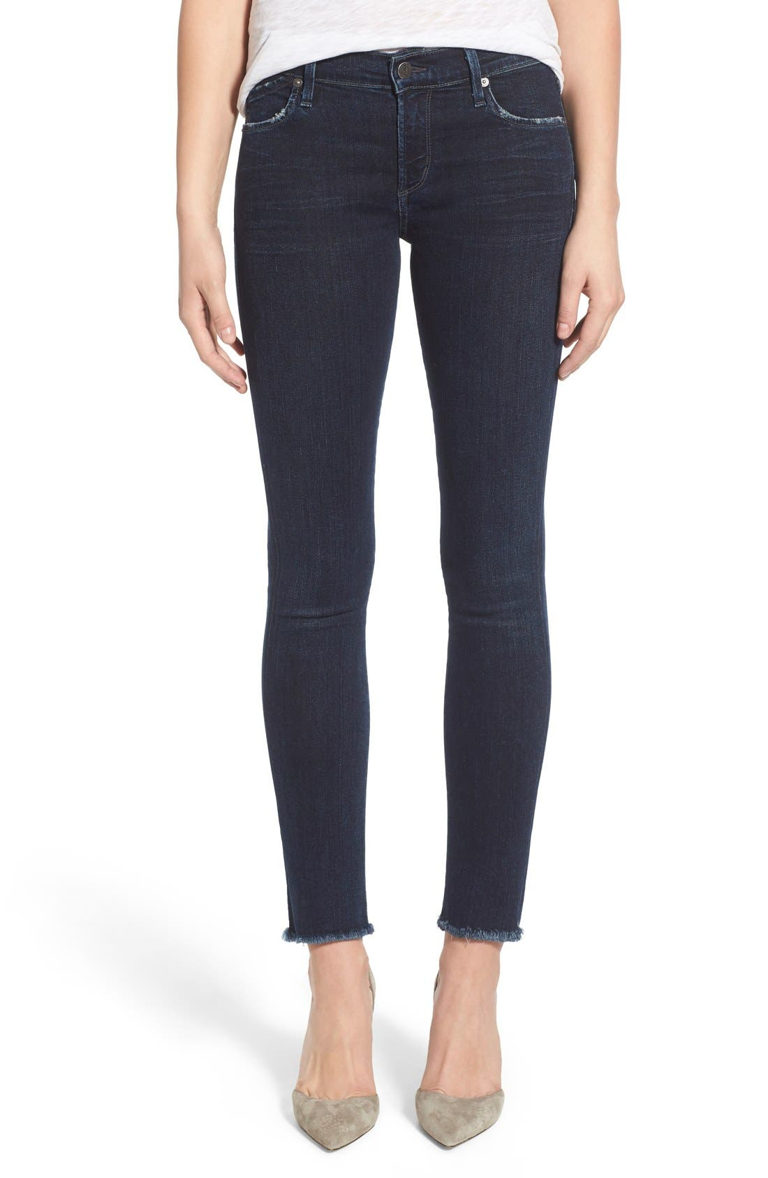 CITIZENS OF HUMANITY,                             Cutoff Ankle Skinny Jeans,                             Main thumbnail 1, color,                             408