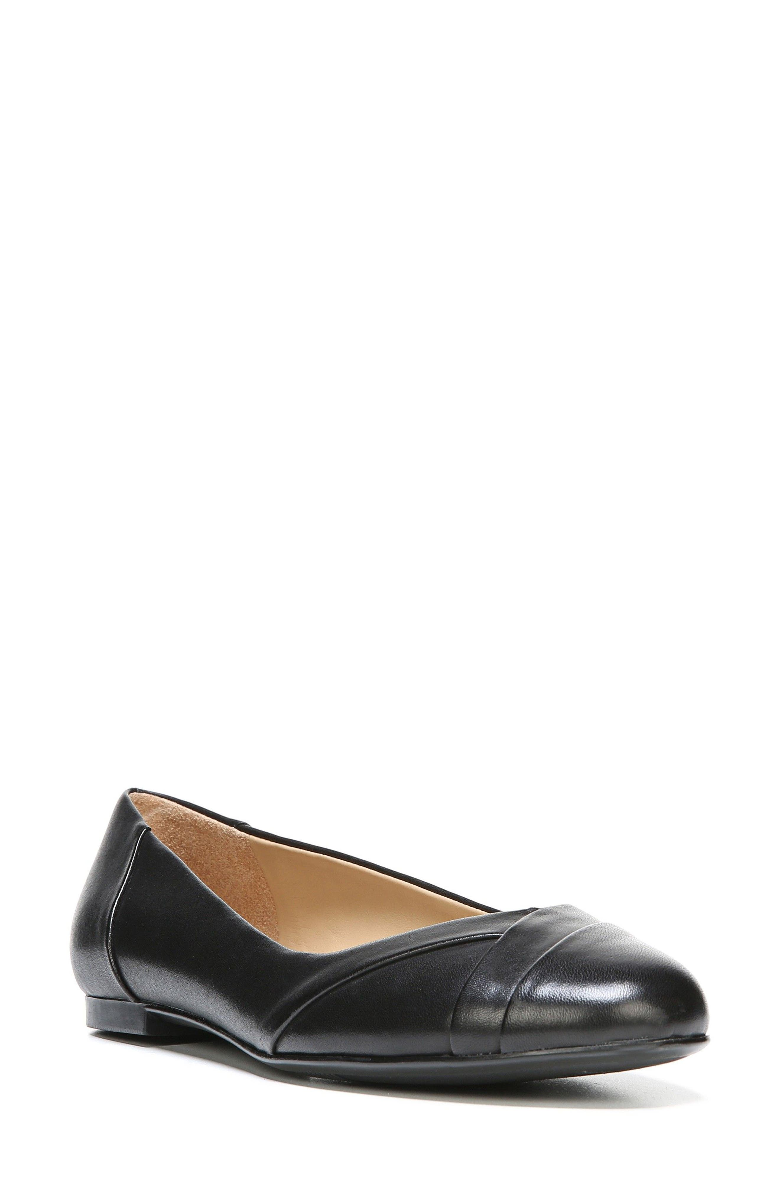 Gilly Flat,                             Main thumbnail 1, color,                             BLACK LEATHER