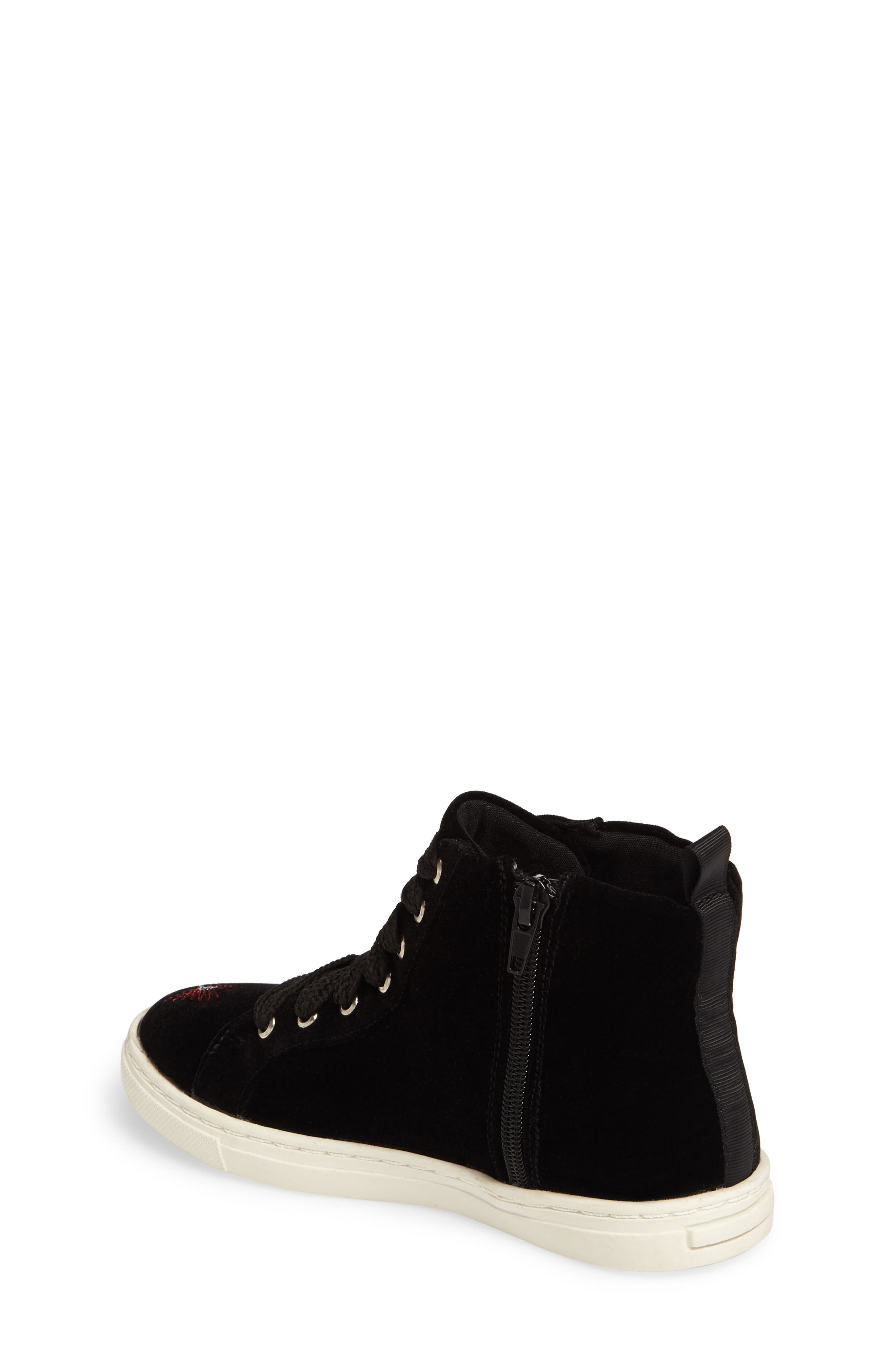 Zowen Embroidered High Top Sneaker,                             Alternate thumbnail 2, color,                             003