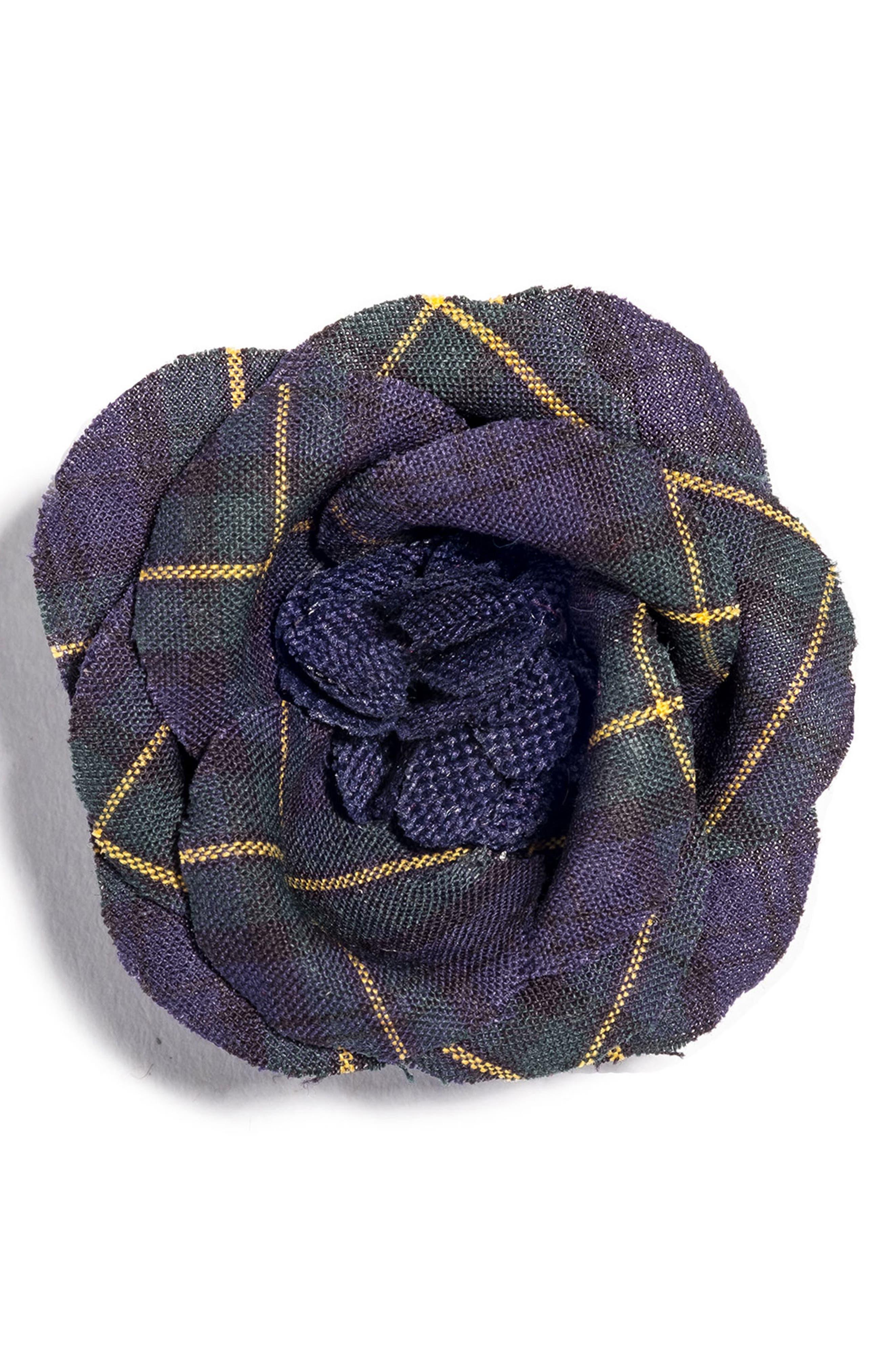 Poplin Lapel Flower,                         Main,                         color, 410