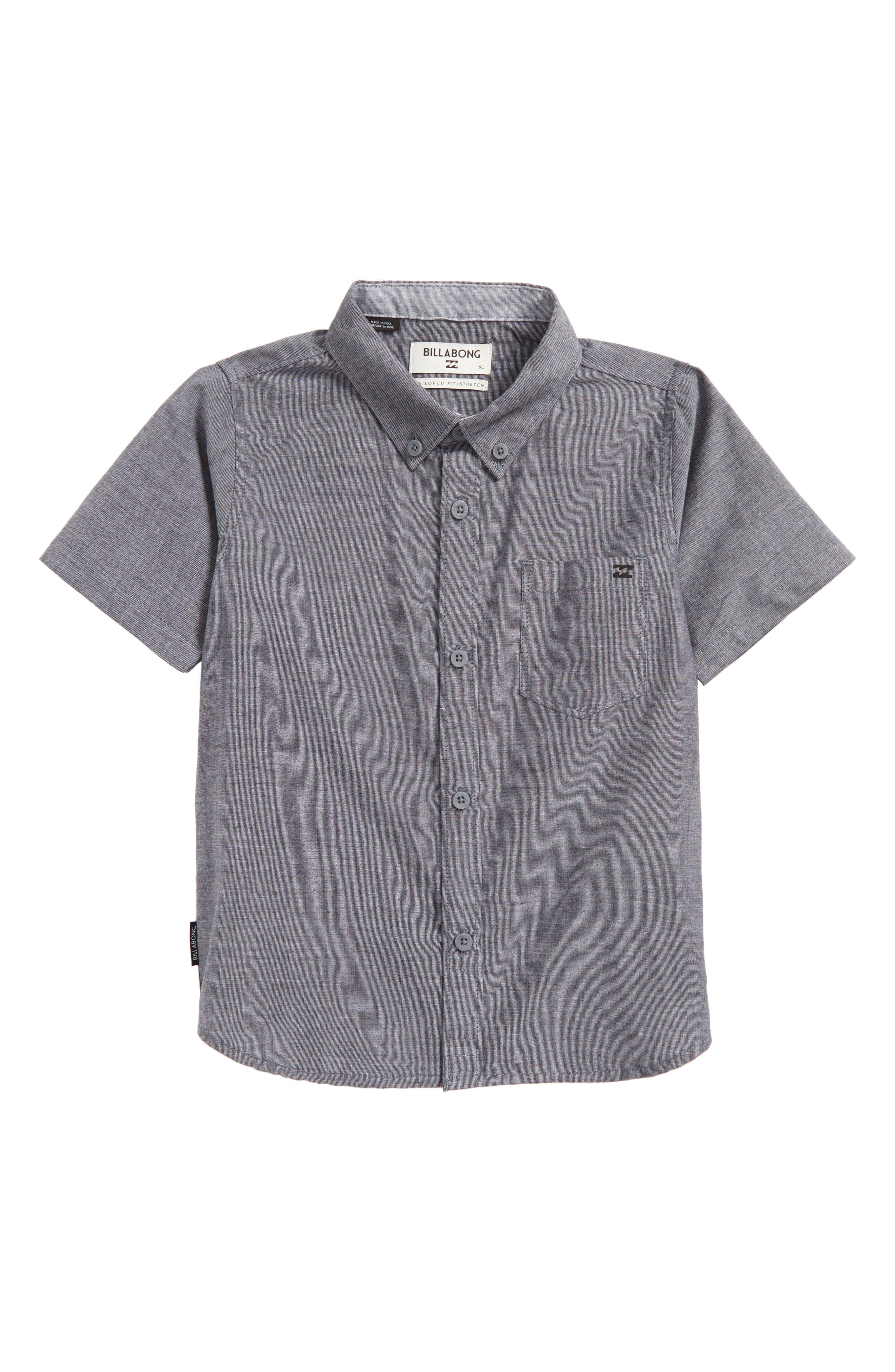 All Day Chambray Woven Shirt,                             Main thumbnail 1, color,                             001