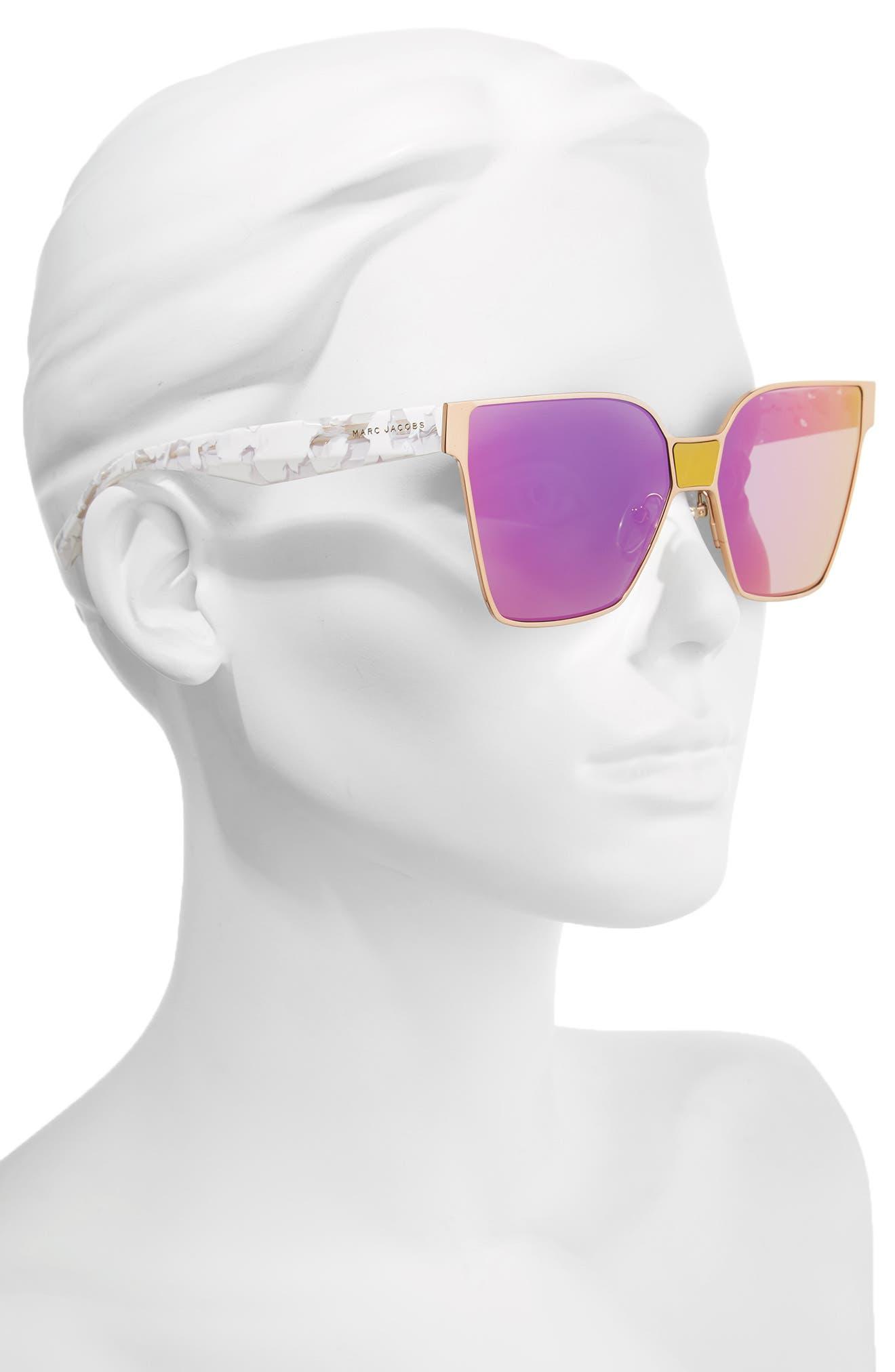 60mm Square Sunglasses,                             Alternate thumbnail 7, color,