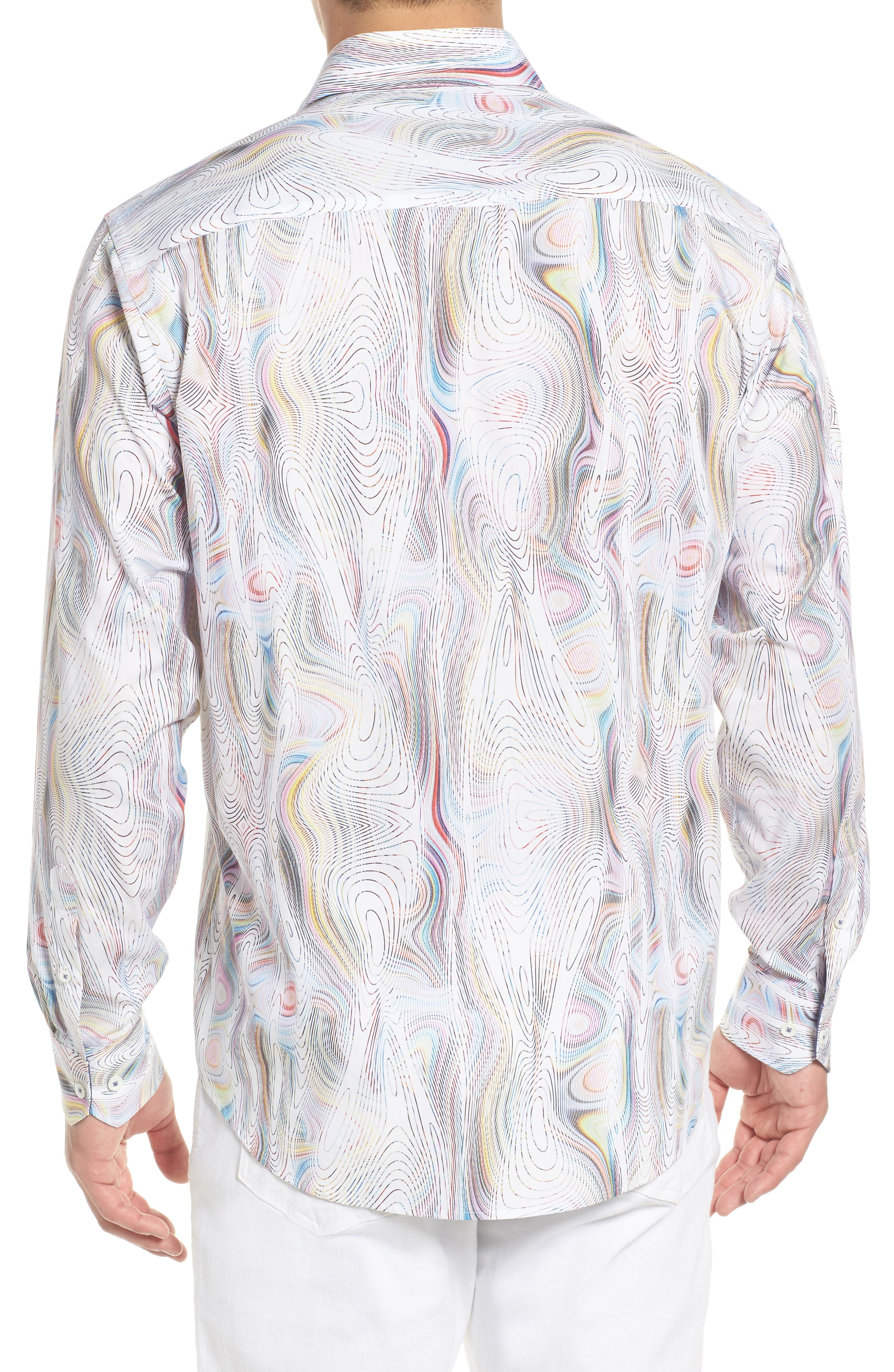 Classic Fit Abstract Print Sport Shirt,                             Alternate thumbnail 2, color,                             601