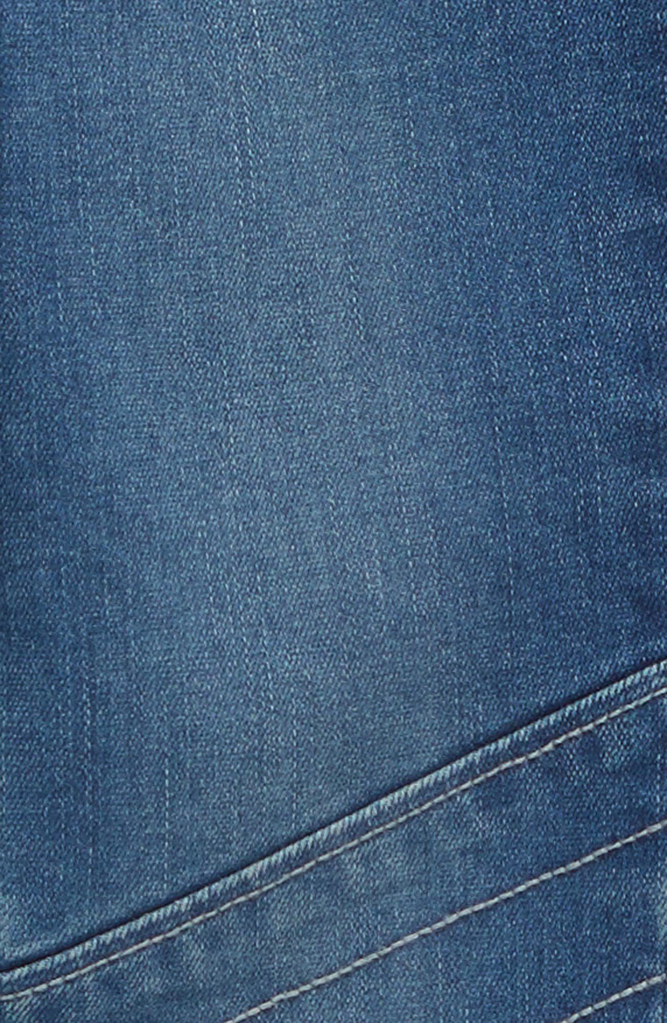 Denim Moto Leggings,                             Alternate thumbnail 3, color,                             420