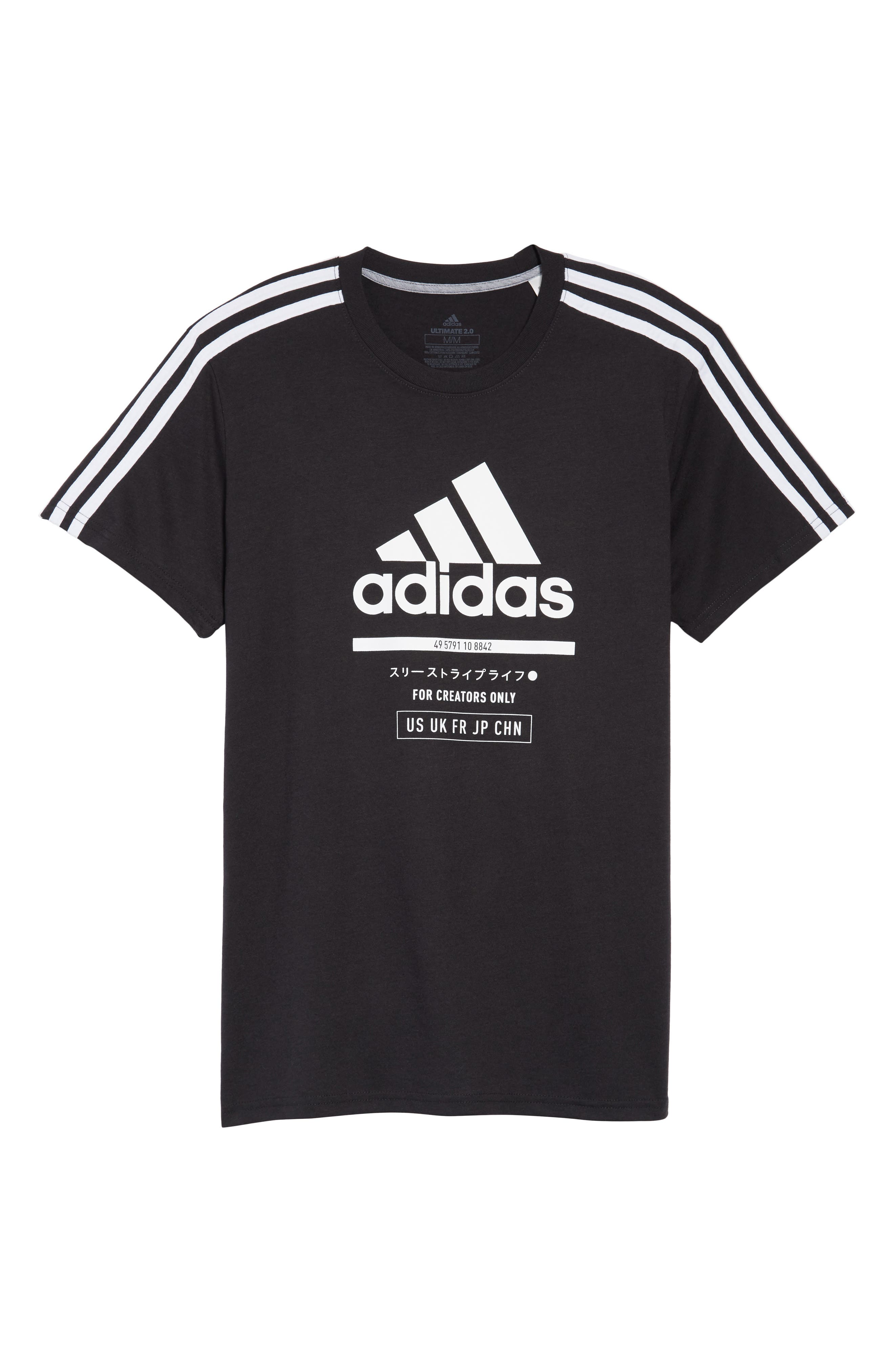 Classic International T-Shirt,                             Alternate thumbnail 6, color,                             BLACK