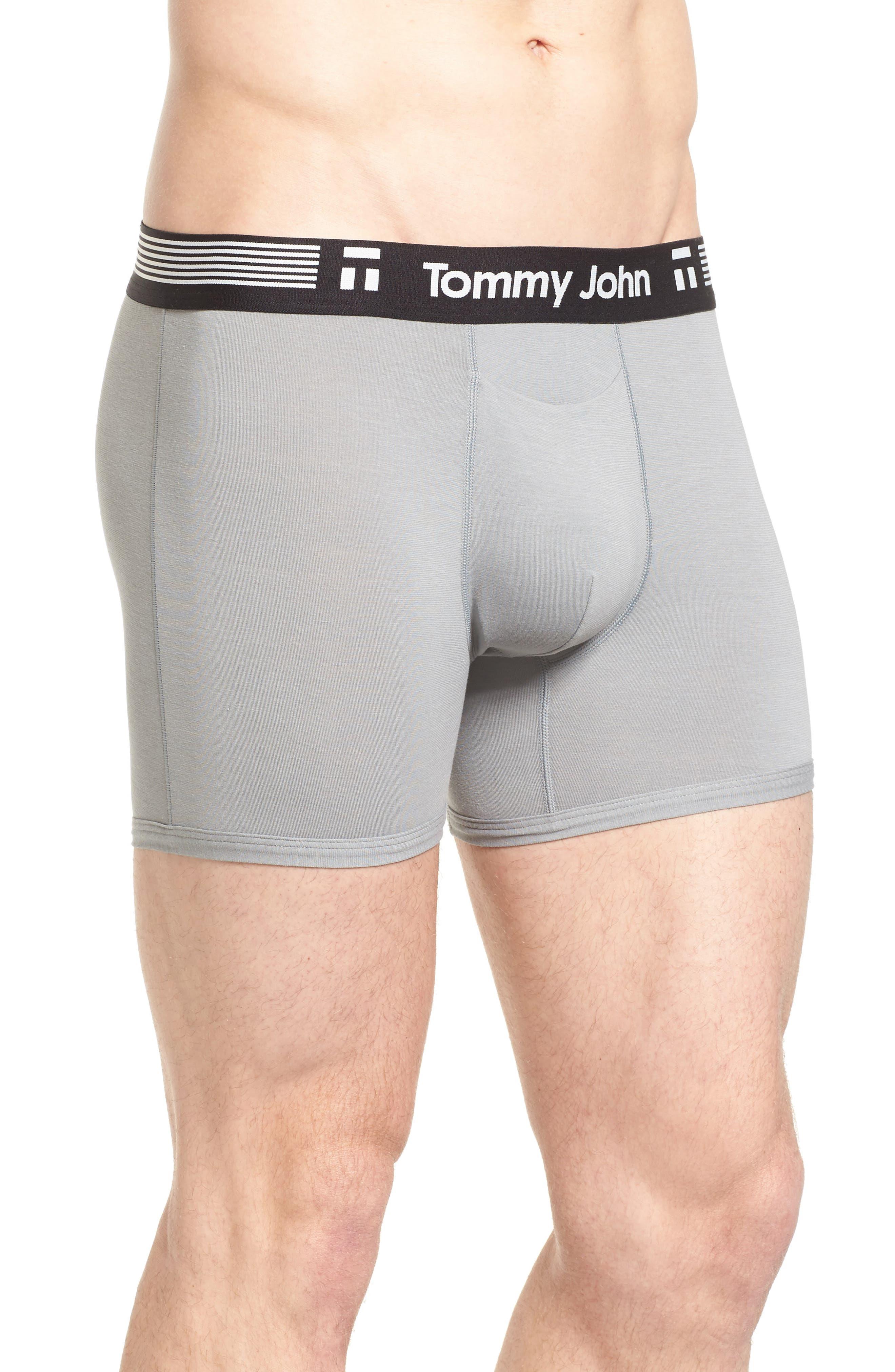 TOMMY JOHN,                             Cool Cotton Trunks,                             Alternate thumbnail 3, color,                             GREY