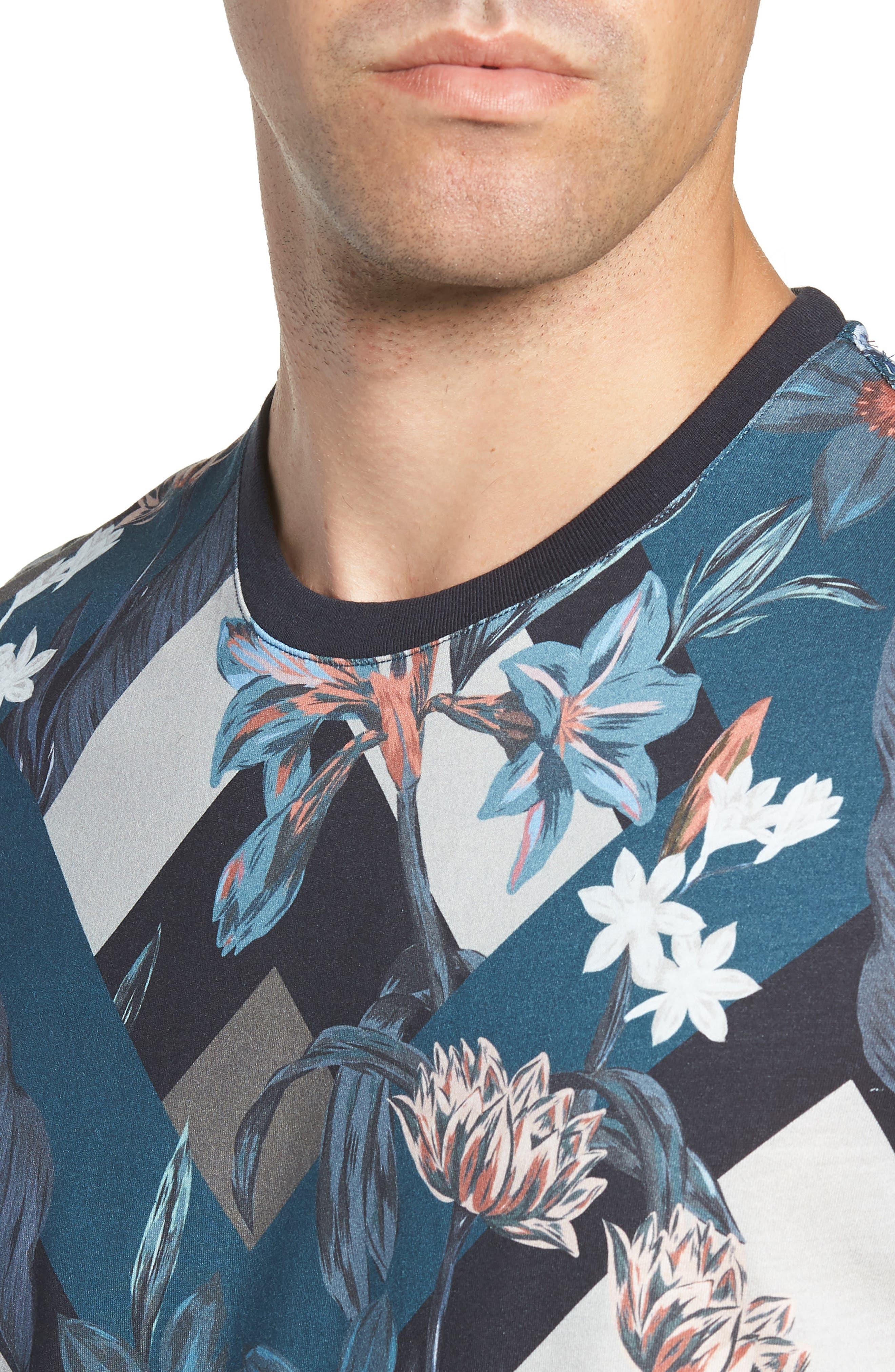 Jolly Slim Fit T-Shirt,                             Alternate thumbnail 4, color,                             NAVY