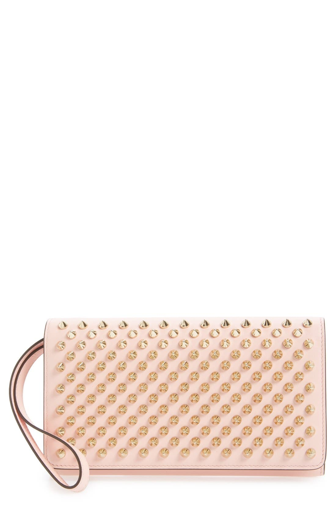 'Macaron' Studded Leather Continental Wallet,                             Main thumbnail 5, color,