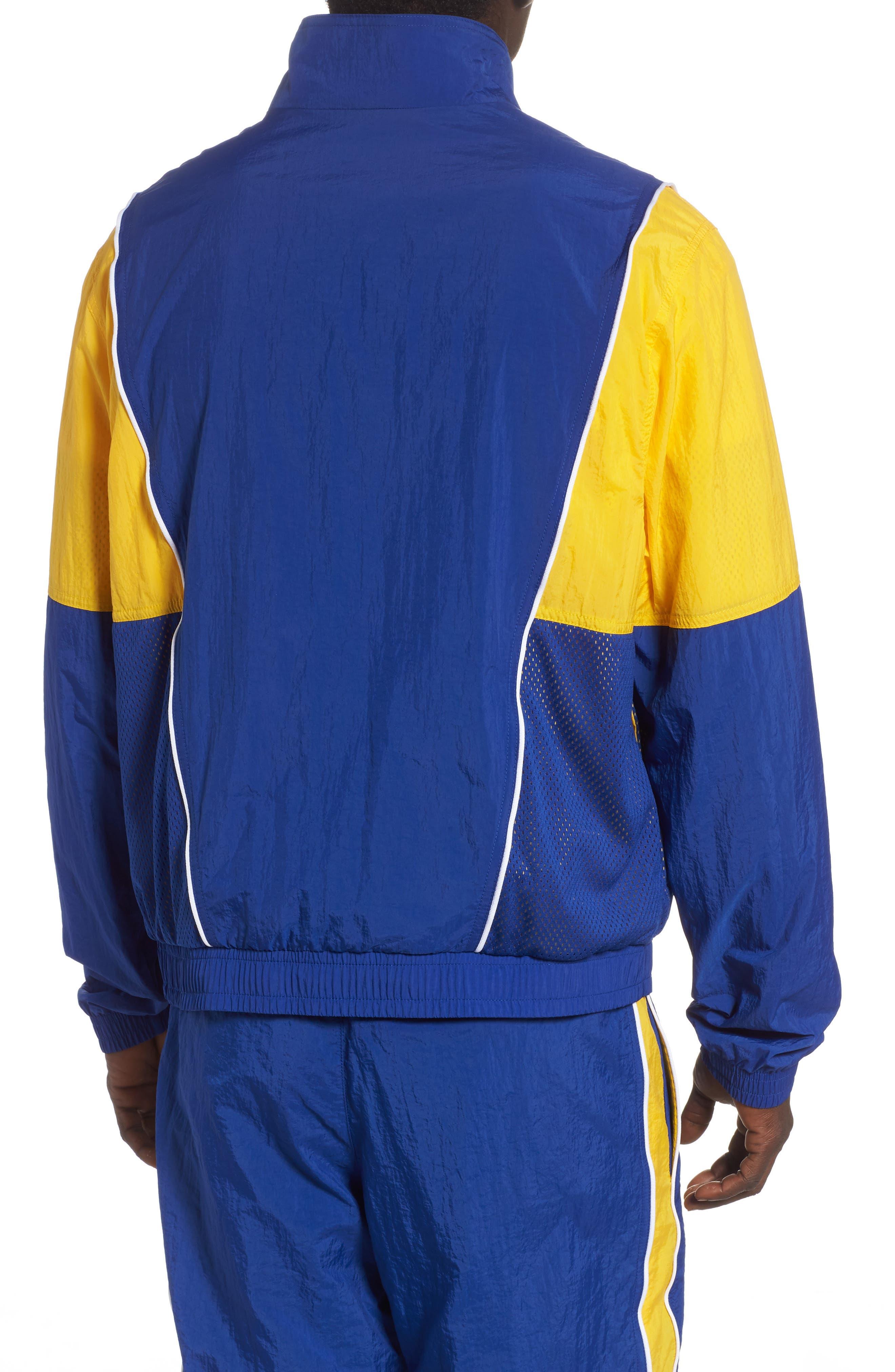 Golden State Warriors Track Jacket,                             Alternate thumbnail 2, color,                             RUSH BLUE/ AMARILLO/ WHITE