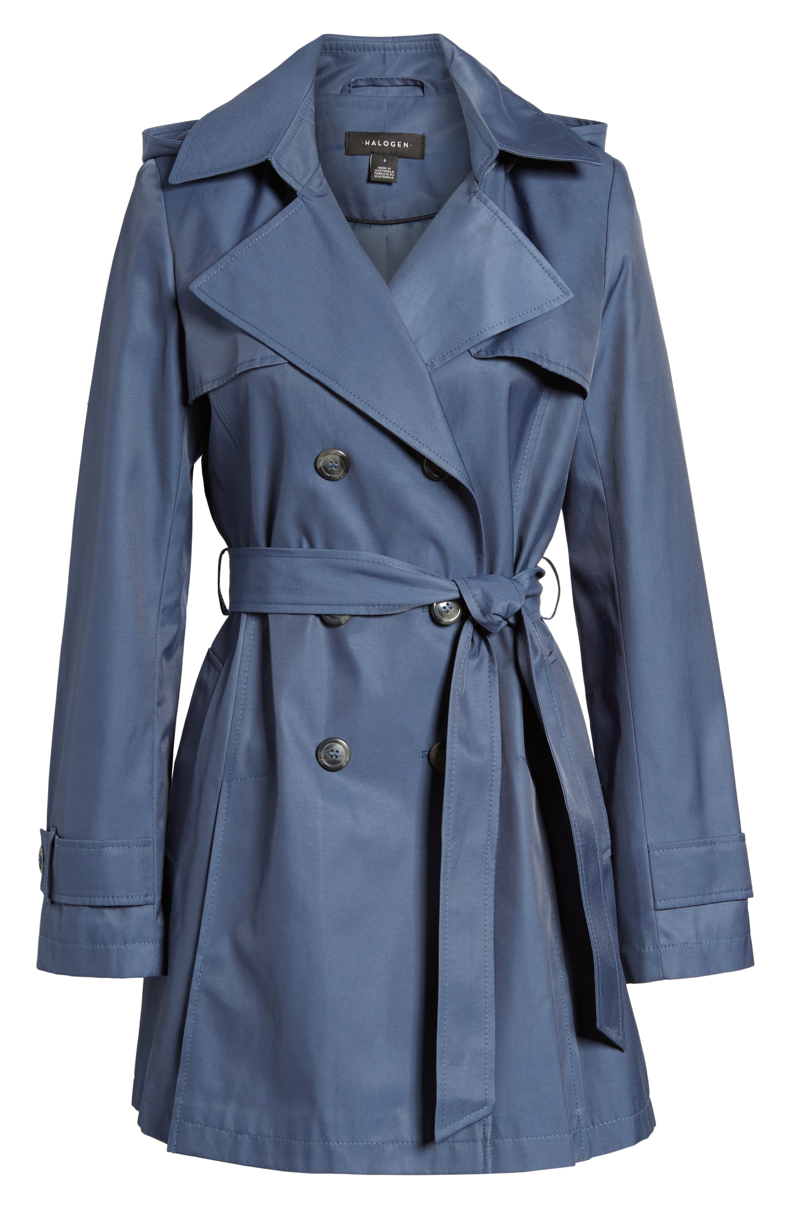 Detachable Hood Trench Coat,                             Alternate thumbnail 36, color,