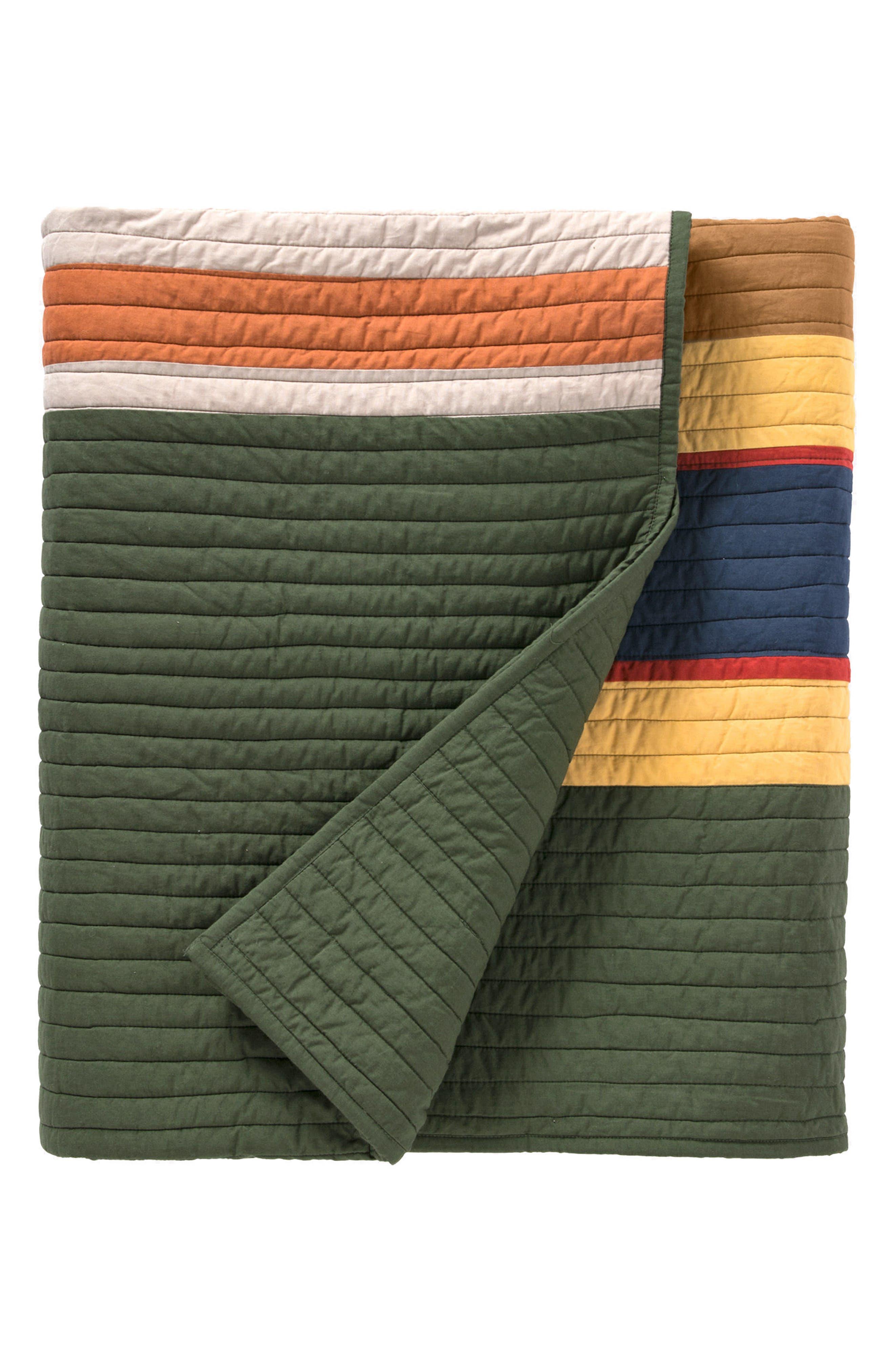 National Park Stripe Quilt & Sham Set,                             Alternate thumbnail 3, color,                             300