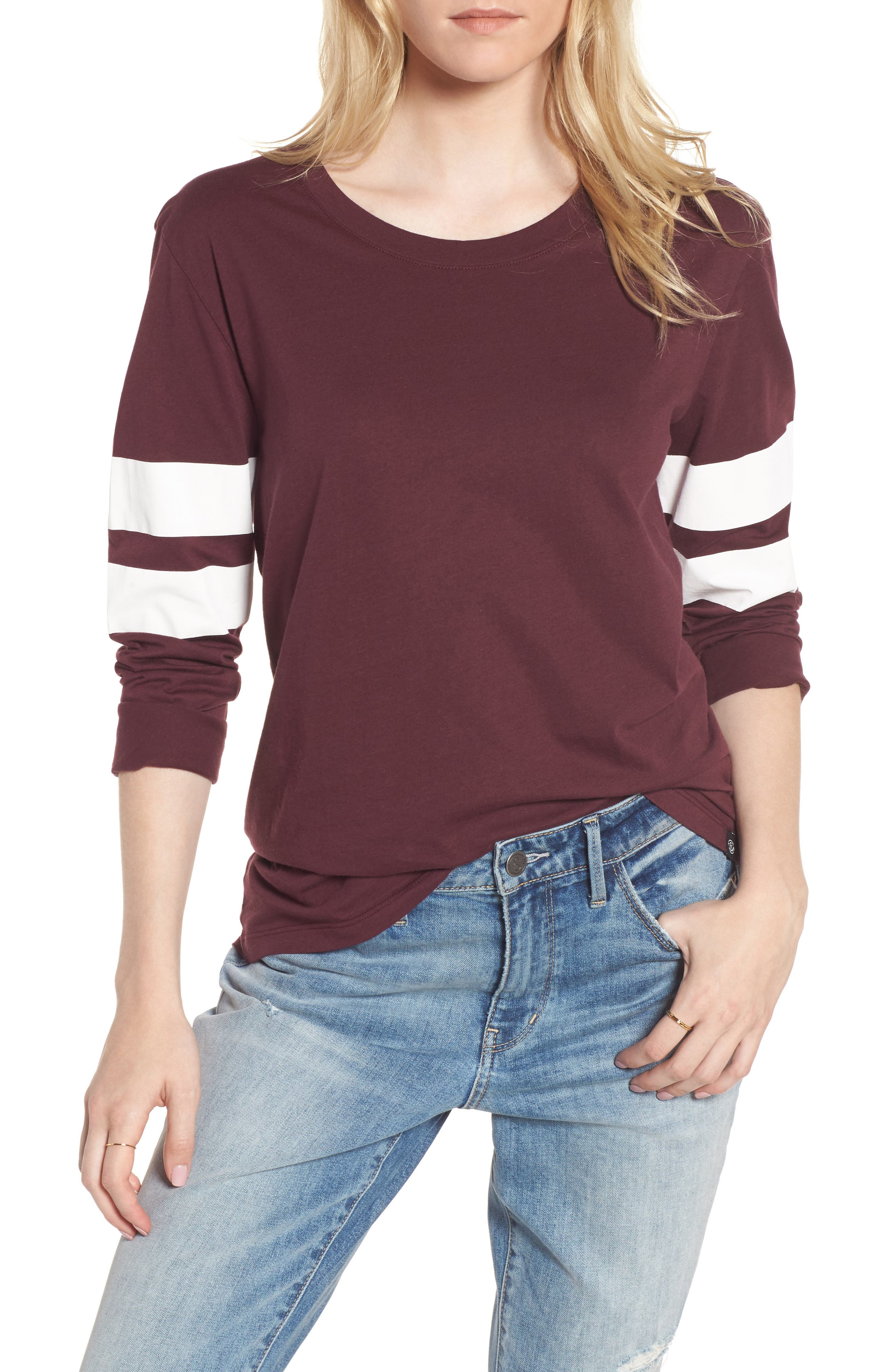 Varsity Stripe Cotton Tee,                             Main thumbnail 16, color,