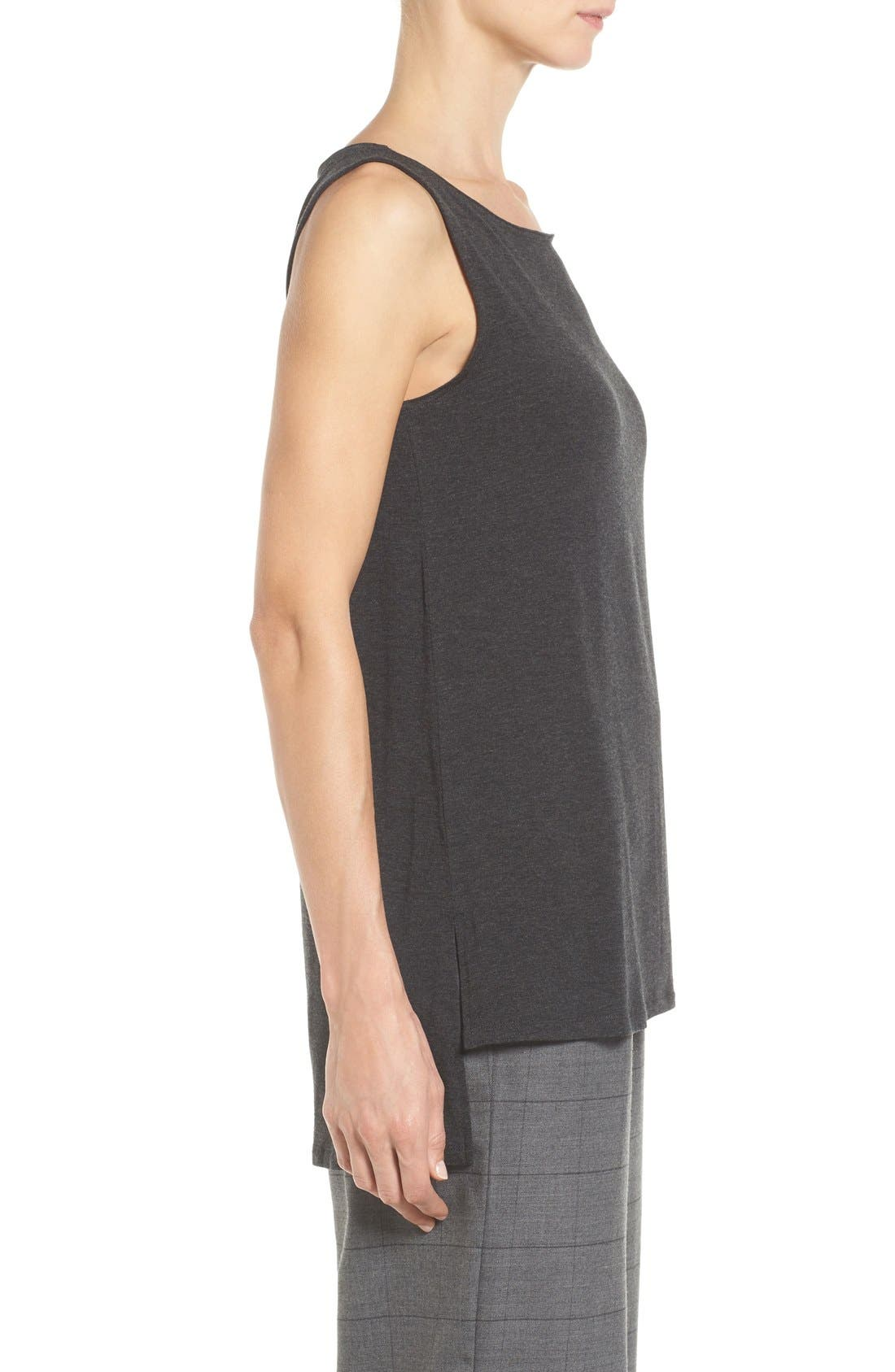 Stretch Tencel<sup>®</sup> Jersey Tank,                             Alternate thumbnail 5, color,                             002