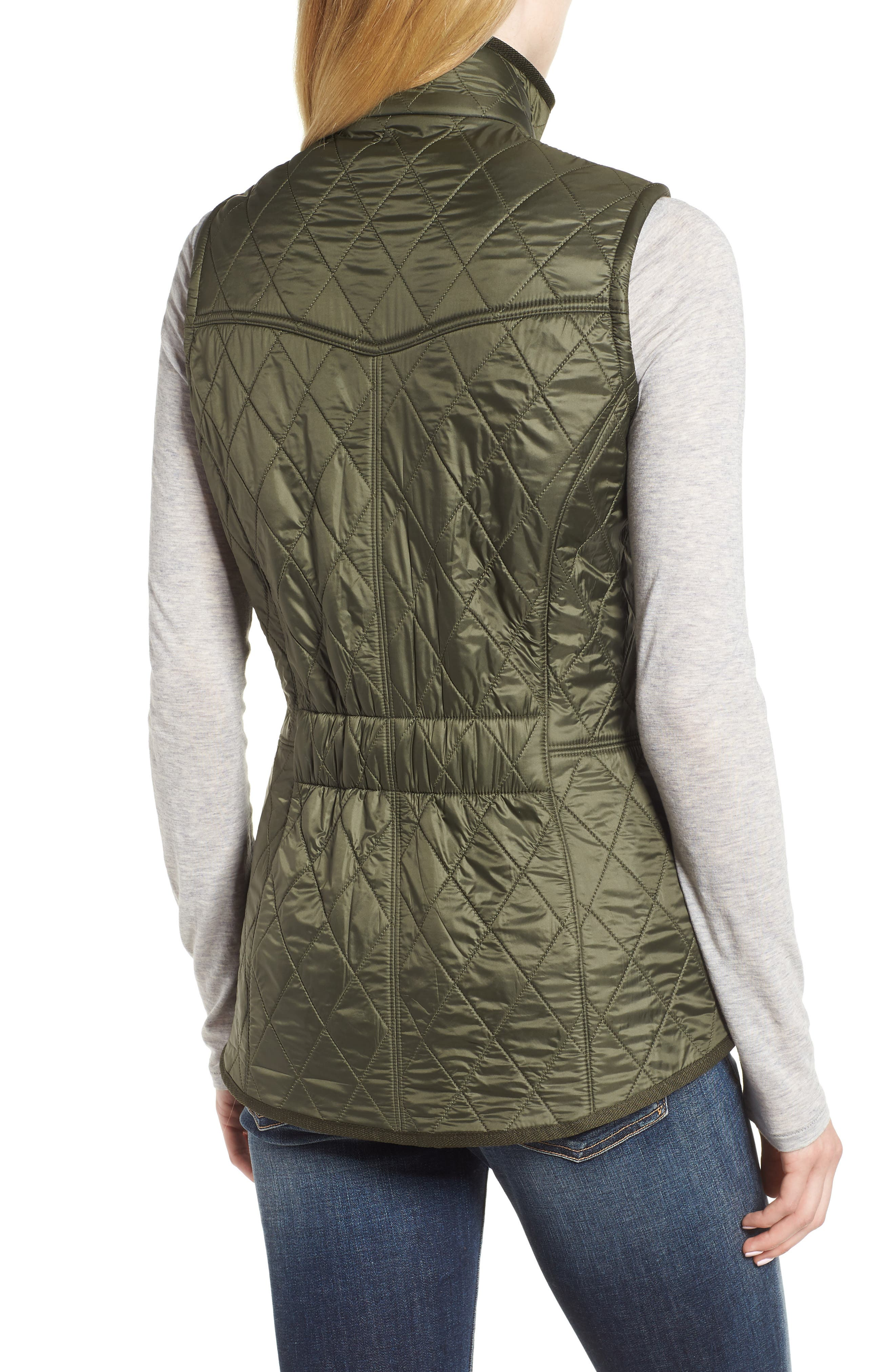 'Cavalry' Quilted Vest,                             Alternate thumbnail 2, color,                             OLIVE/ OLIVE