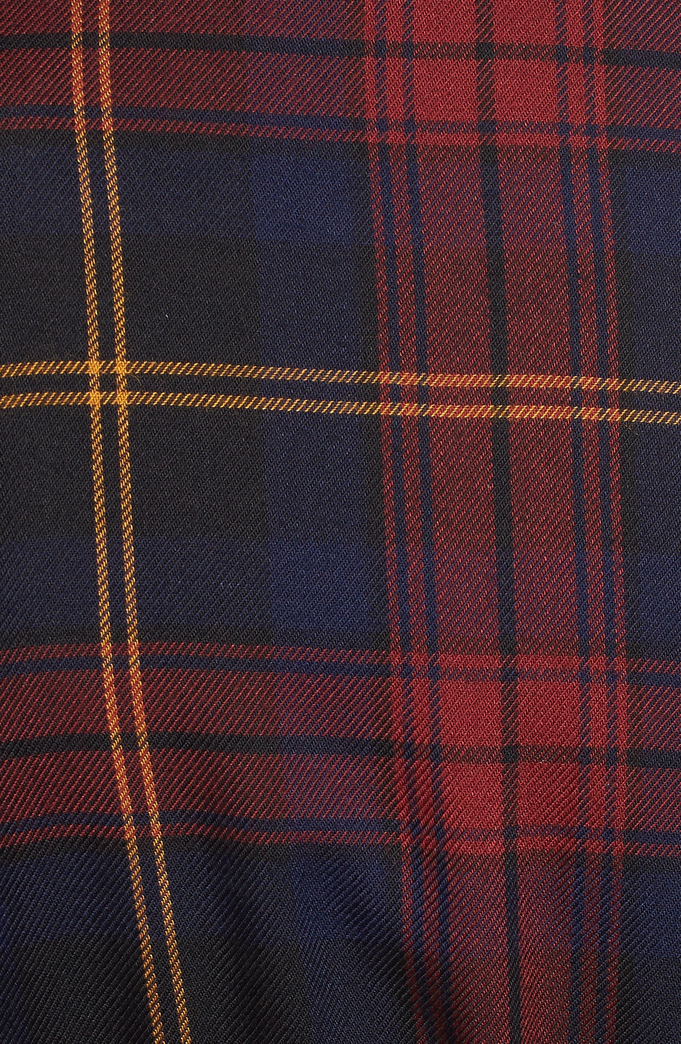 Plaid Ruffle Hem Dress,                             Alternate thumbnail 6, color,                             400