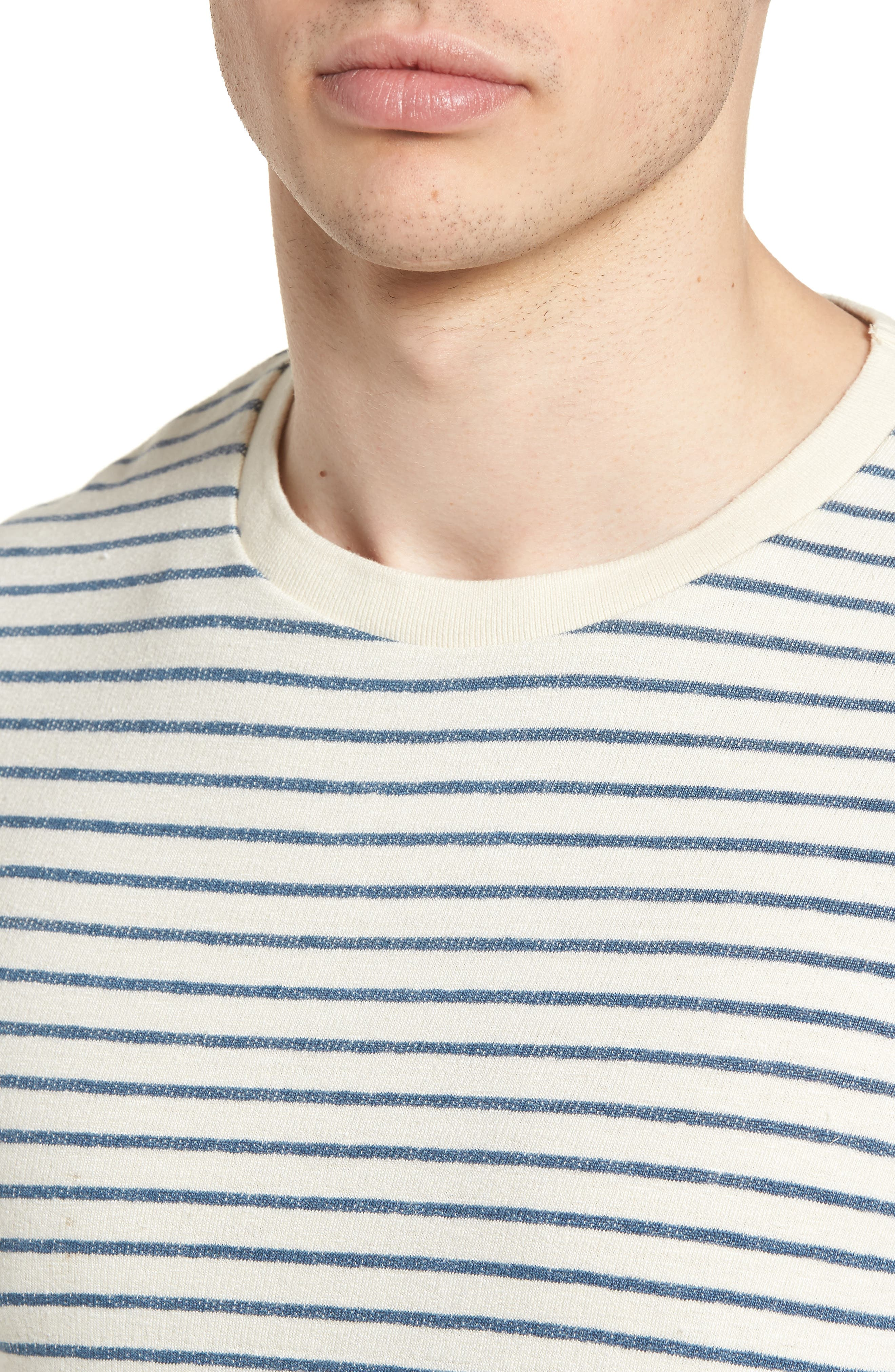 Stripe Crewneck Sweater,                             Alternate thumbnail 4, color,                             250