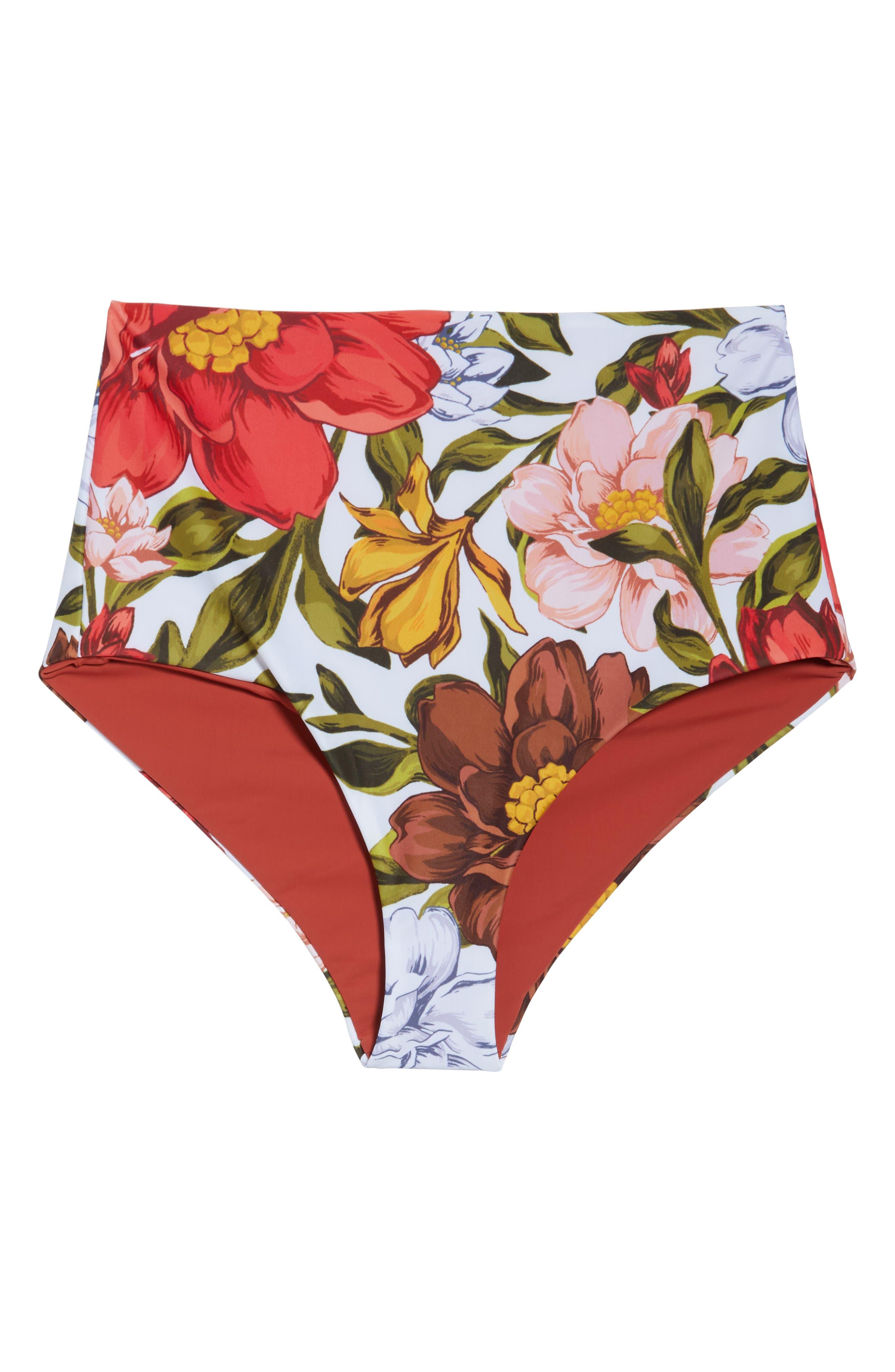 Lydia High Waist Bikini Bottoms,                             Alternate thumbnail 6, color,                             105