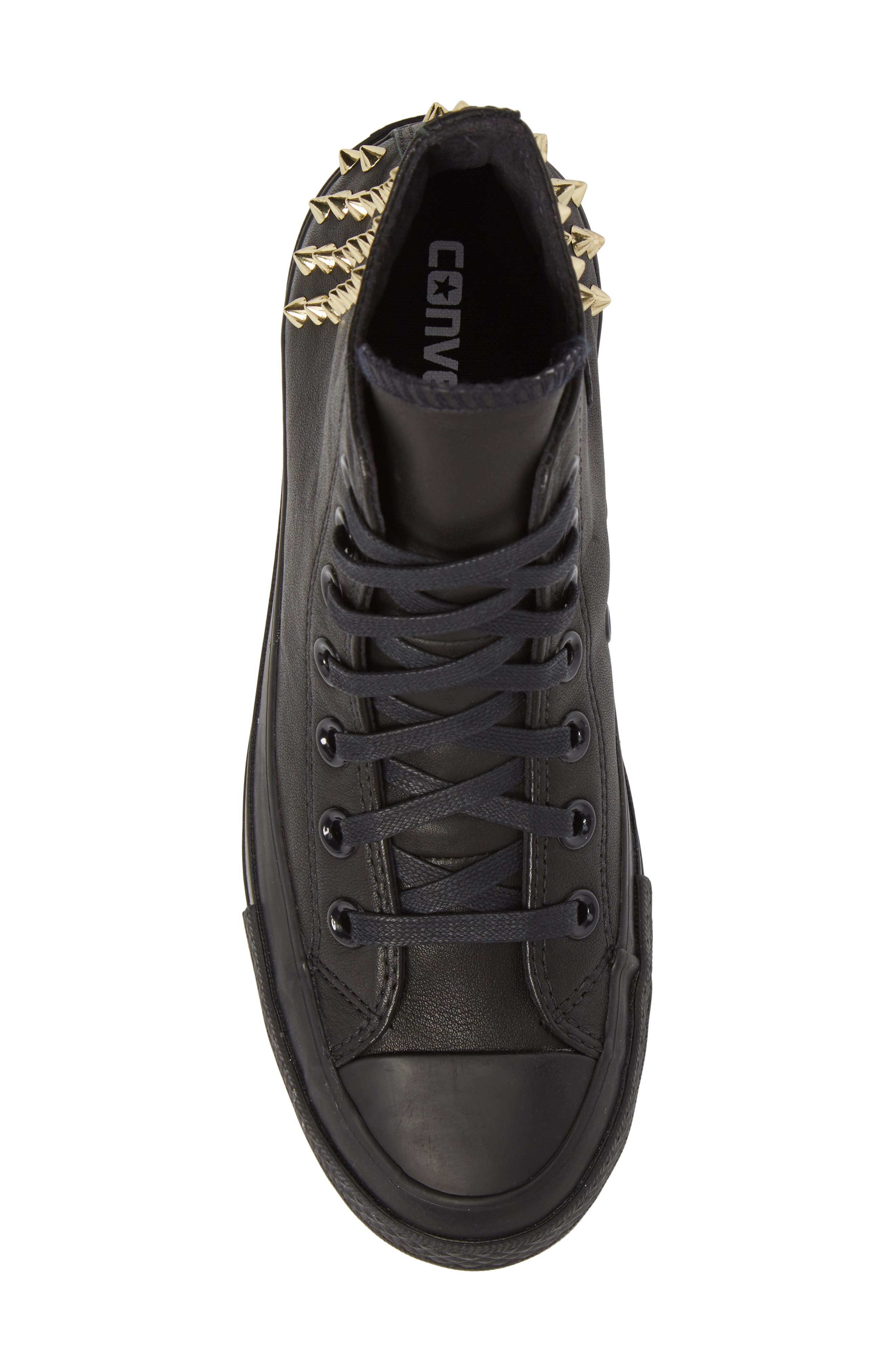 Chuck Taylor<sup>®</sup> All Star<sup>®</sup> Lift Ripple Studded High Top Sneaker,                             Alternate thumbnail 5, color,                             001