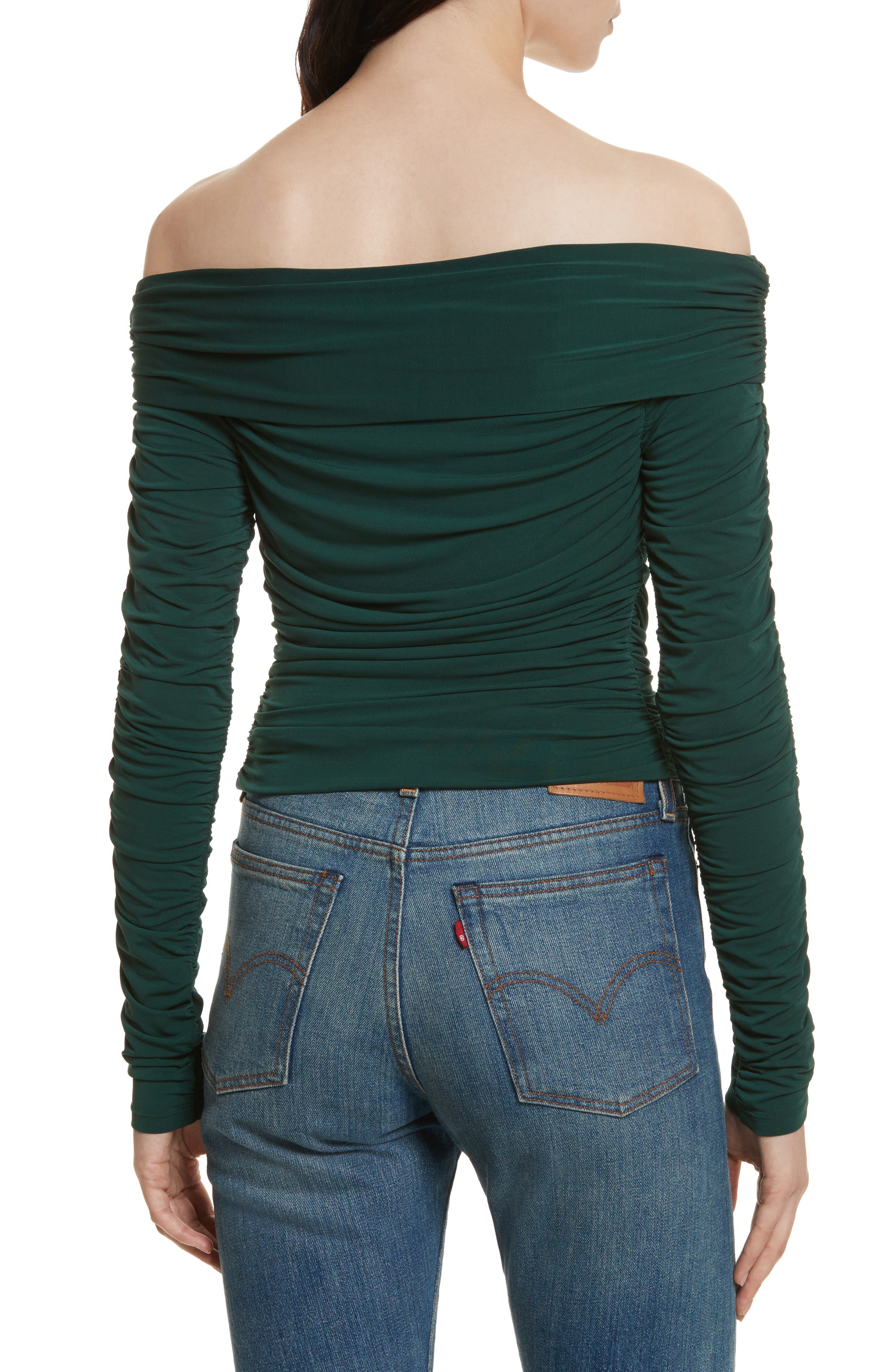 Terence Ruched Off the Shoulder Top,                             Alternate thumbnail 2, color,                             316