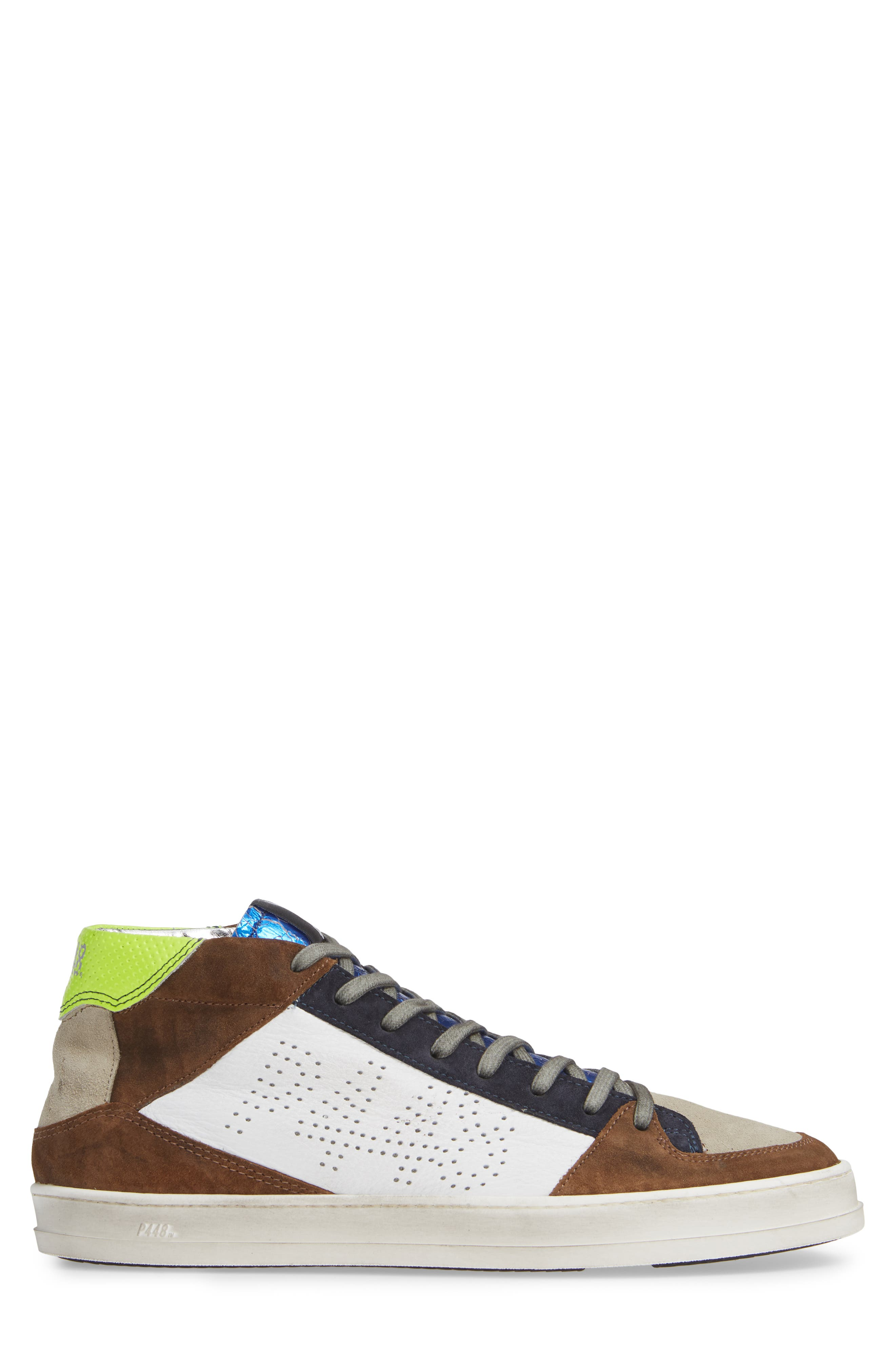 A8Queens Mid Top Sneaker,                             Alternate thumbnail 3, color,                             YELLOW