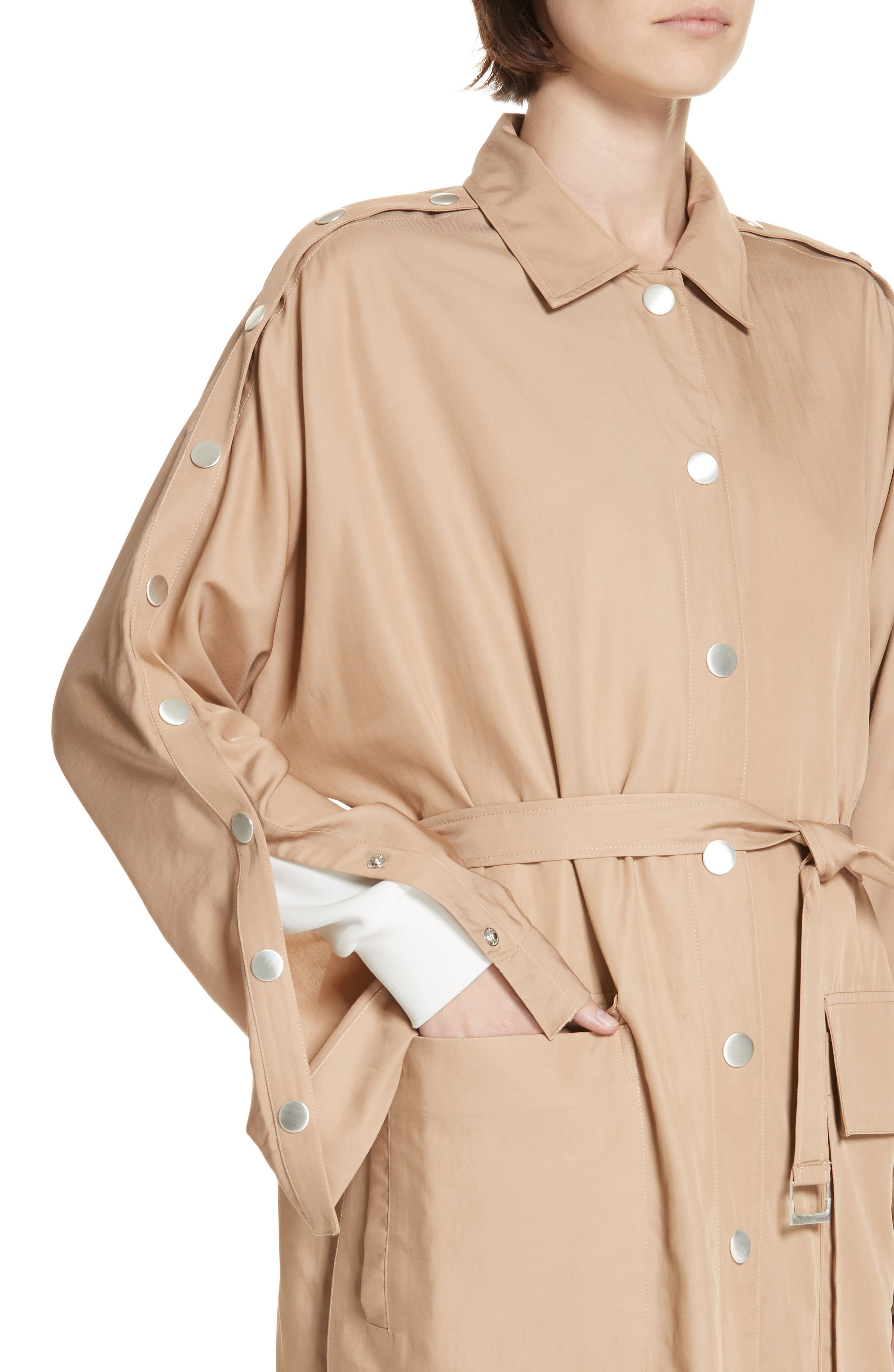 Snap Detail Trench Coat,                             Alternate thumbnail 4, color,                             200