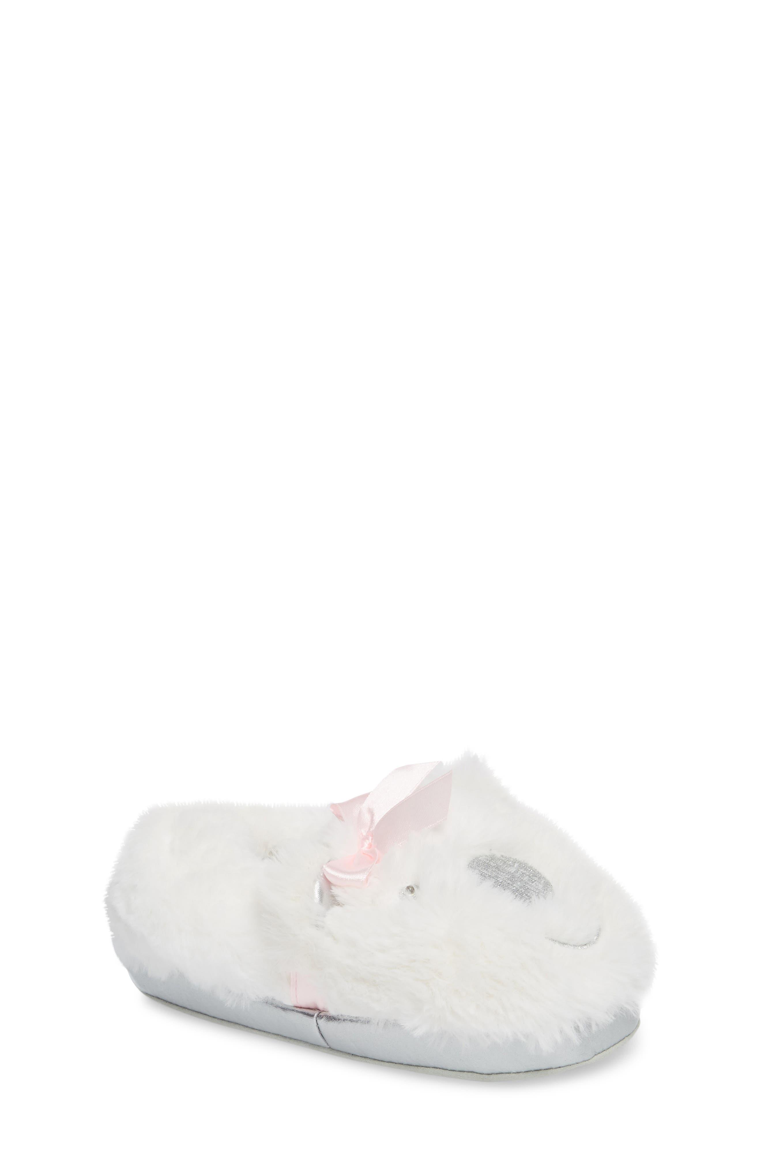 Light-Up Faux Fur Polar Bear Slipper,                             Main thumbnail 1, color,
