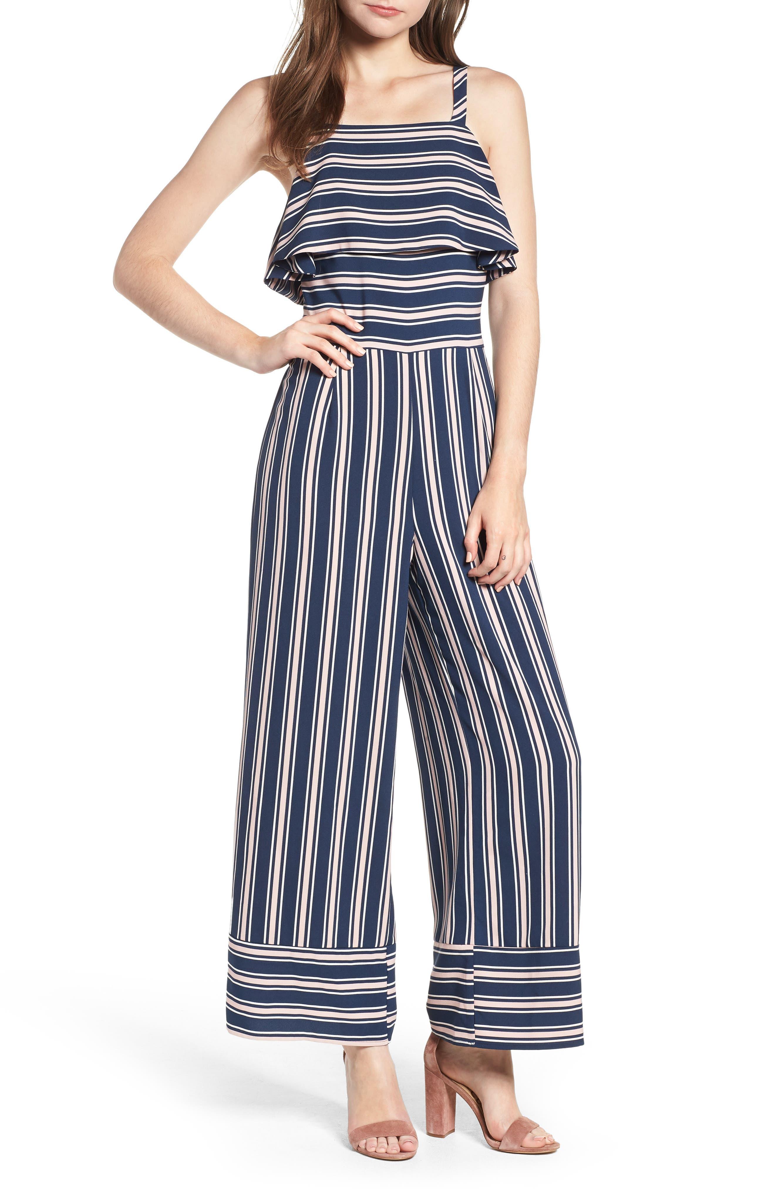 Stripe Jumpsuit,                             Main thumbnail 2, color,