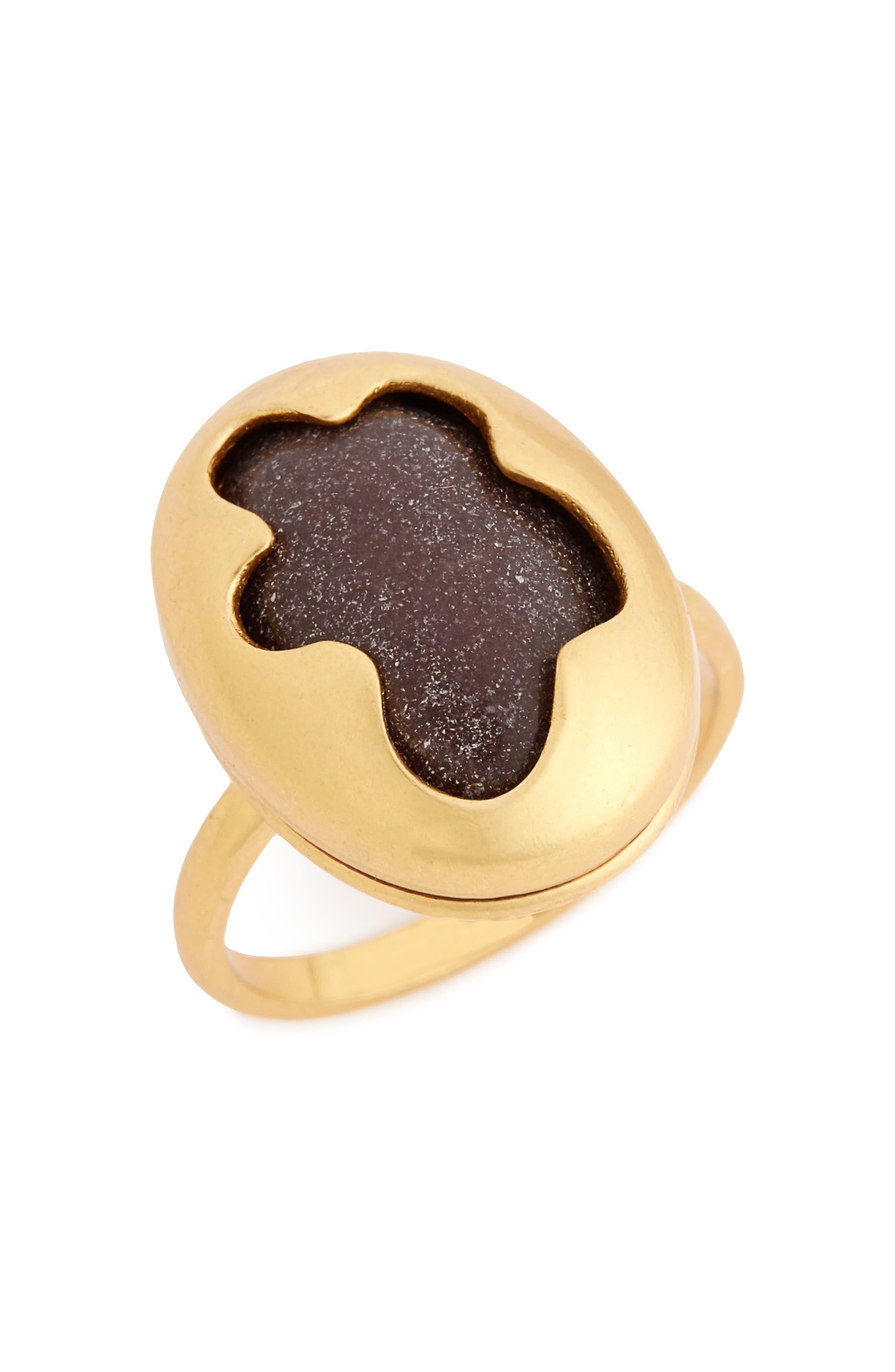 Wavy Bezel Statement Ring,                         Main,                         color, 710