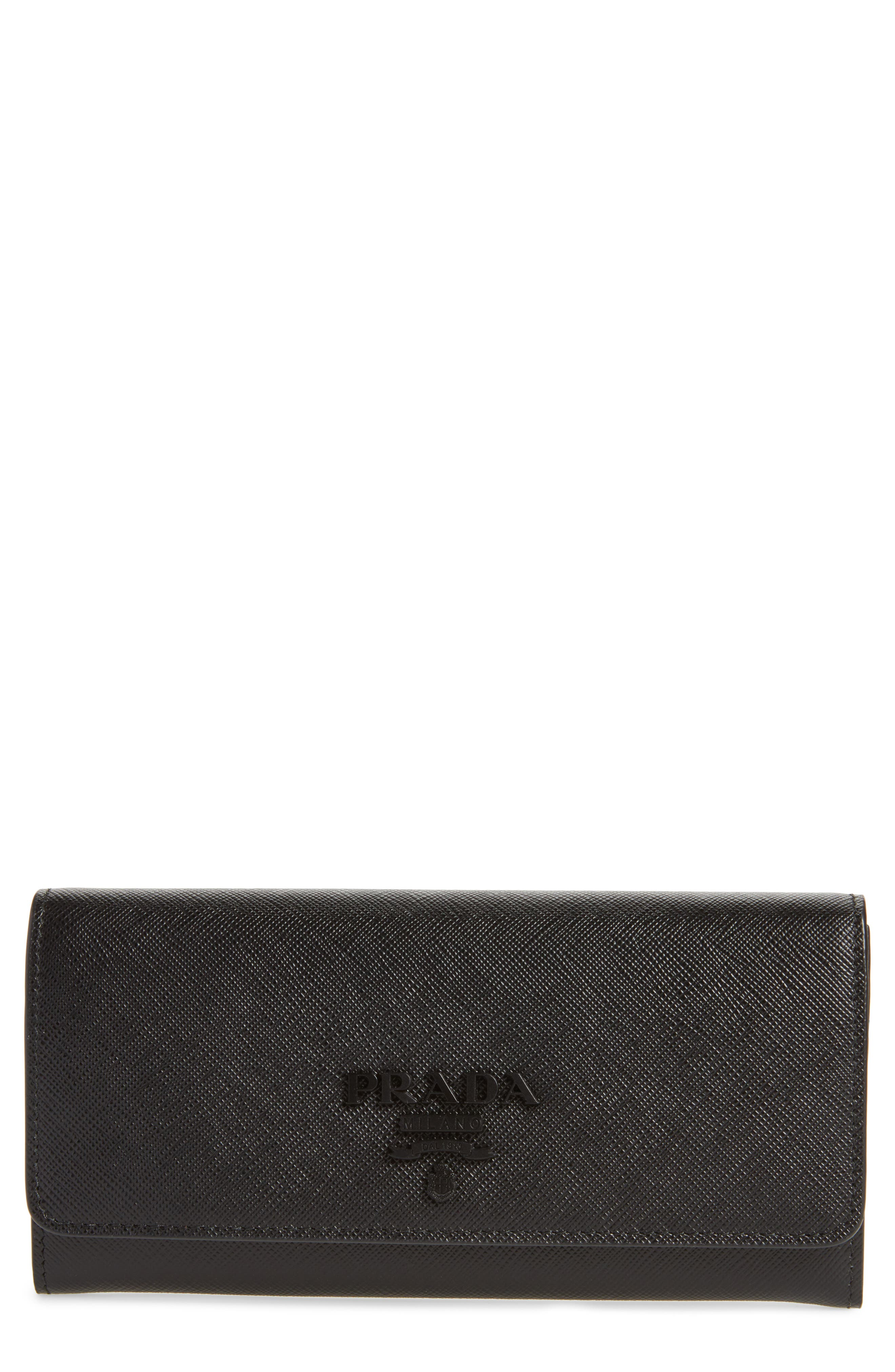 Monochrome Continental Wallet,                             Main thumbnail 1, color,                             NERO