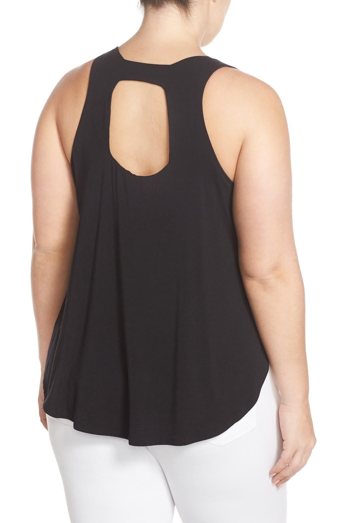 'Emerson' Cutout Back Tank,                             Alternate thumbnail 2, color,                             001