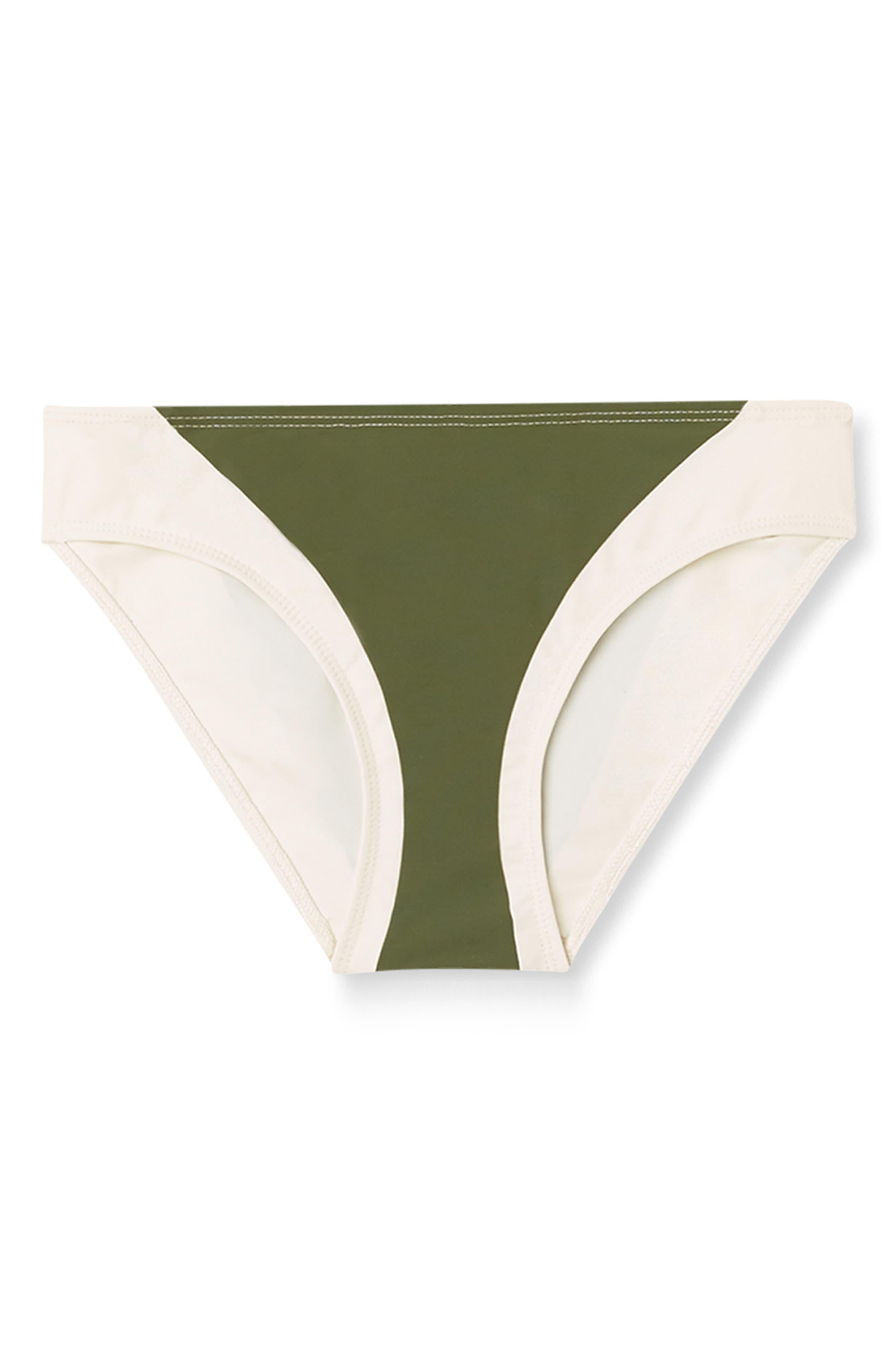 Celine Bikini Bottoms in Olive Multi