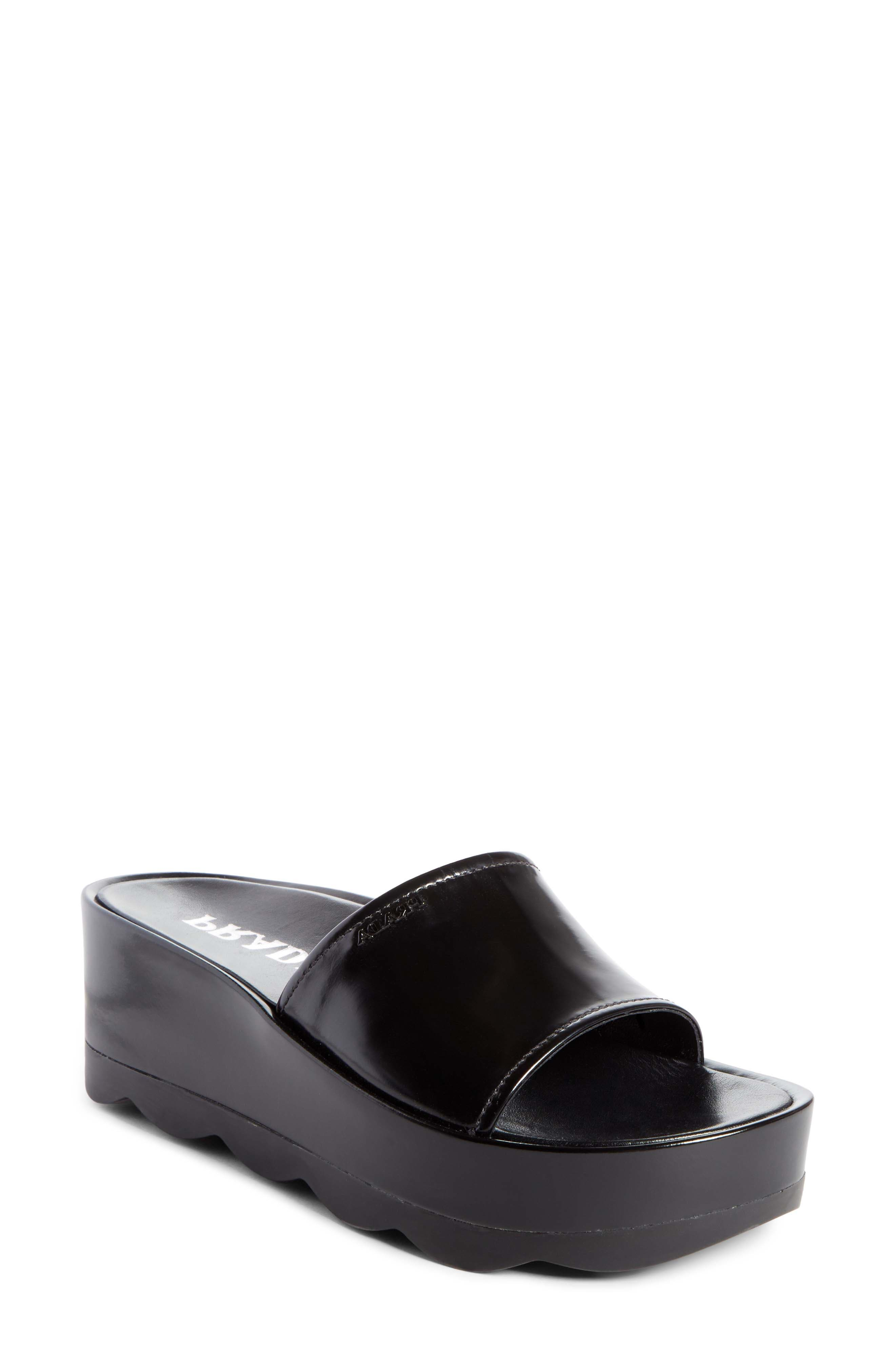 Platform Slide Sandal,                             Main thumbnail 1, color,                             001