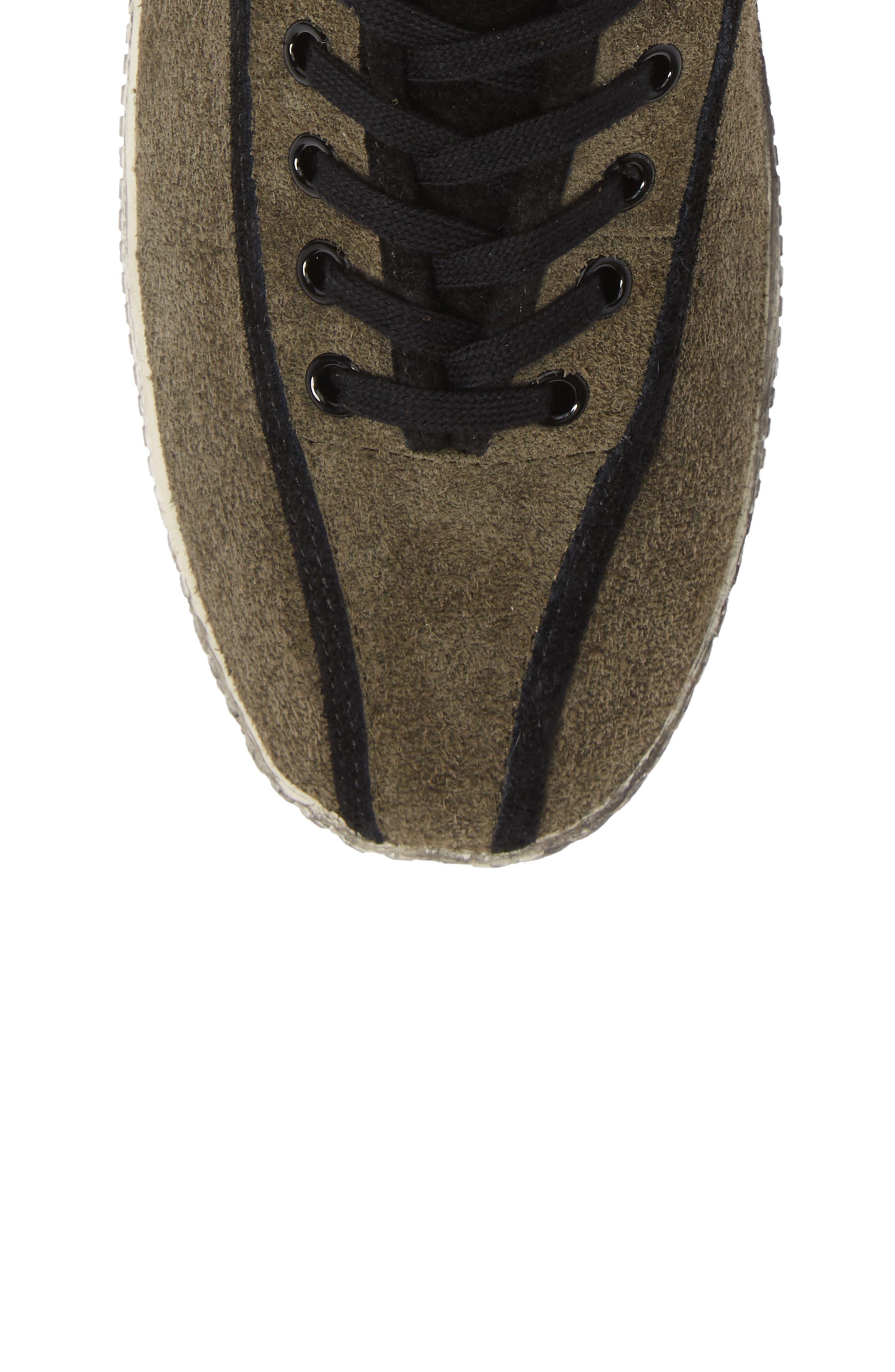 Nylite Hi 21 High Top Sneaker,                             Alternate thumbnail 5, color,                             OLIVE/ BLACK SUEDE