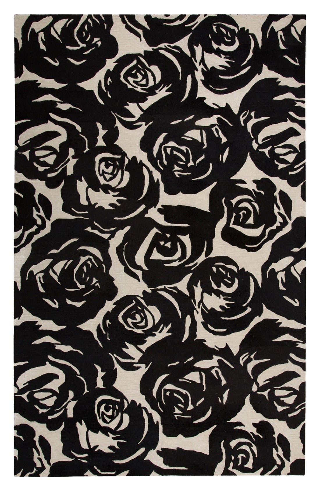 'gramercy - floral' wool & silk rug,                             Main thumbnail 1, color,                             001