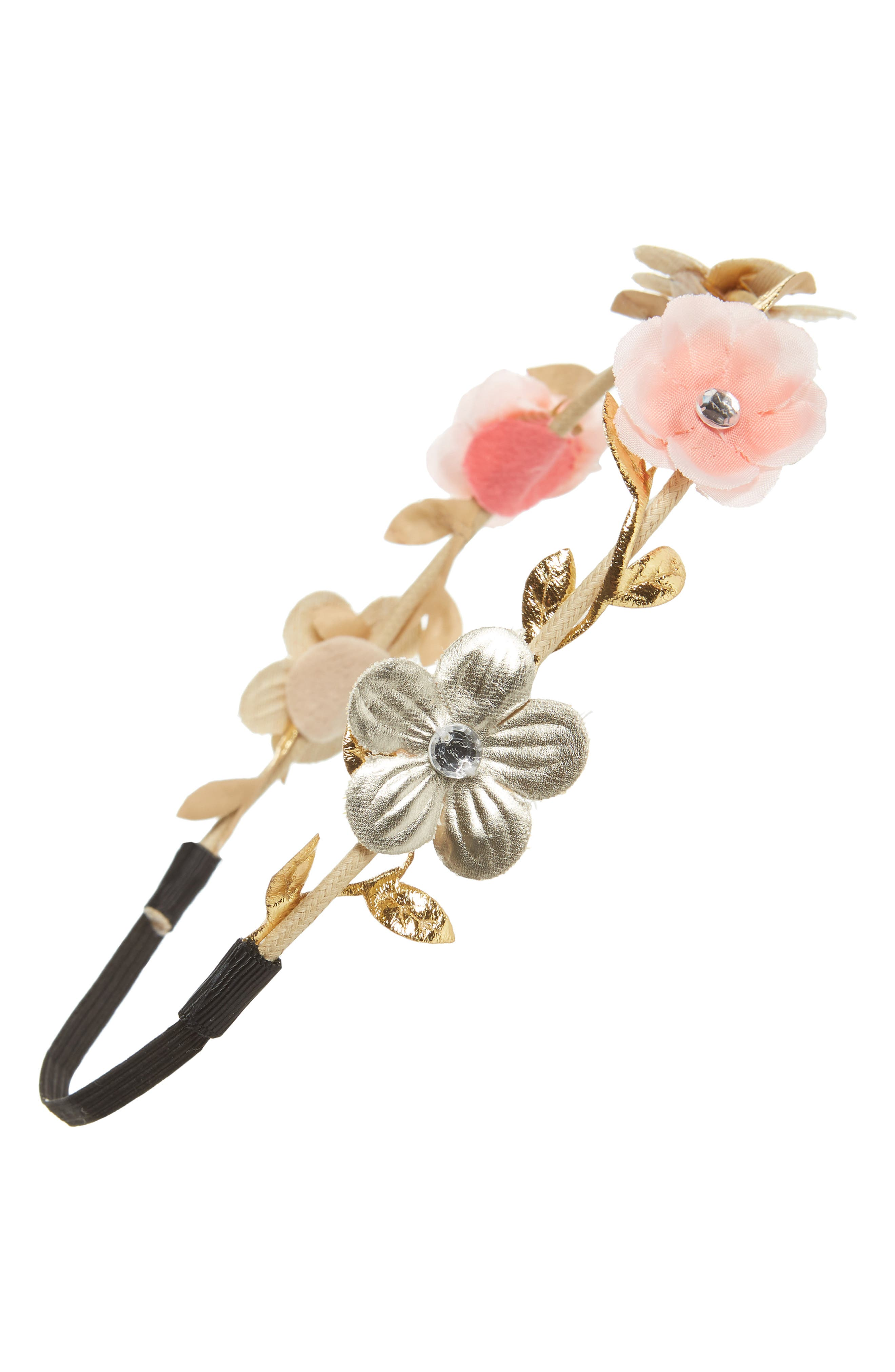 CAPELLI NEW YORK,                             Capelli of New York Crystal Flower Head Wrap,                             Main thumbnail 1, color,                             950