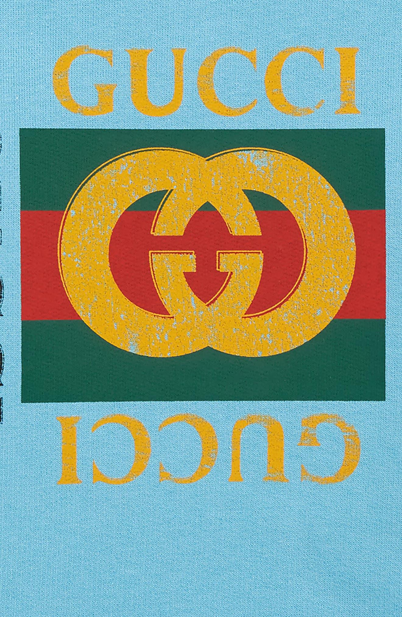 Logo Graphic Sweatshirt,                             Alternate thumbnail 2, color,                             AZURE/ GREEN/ RED